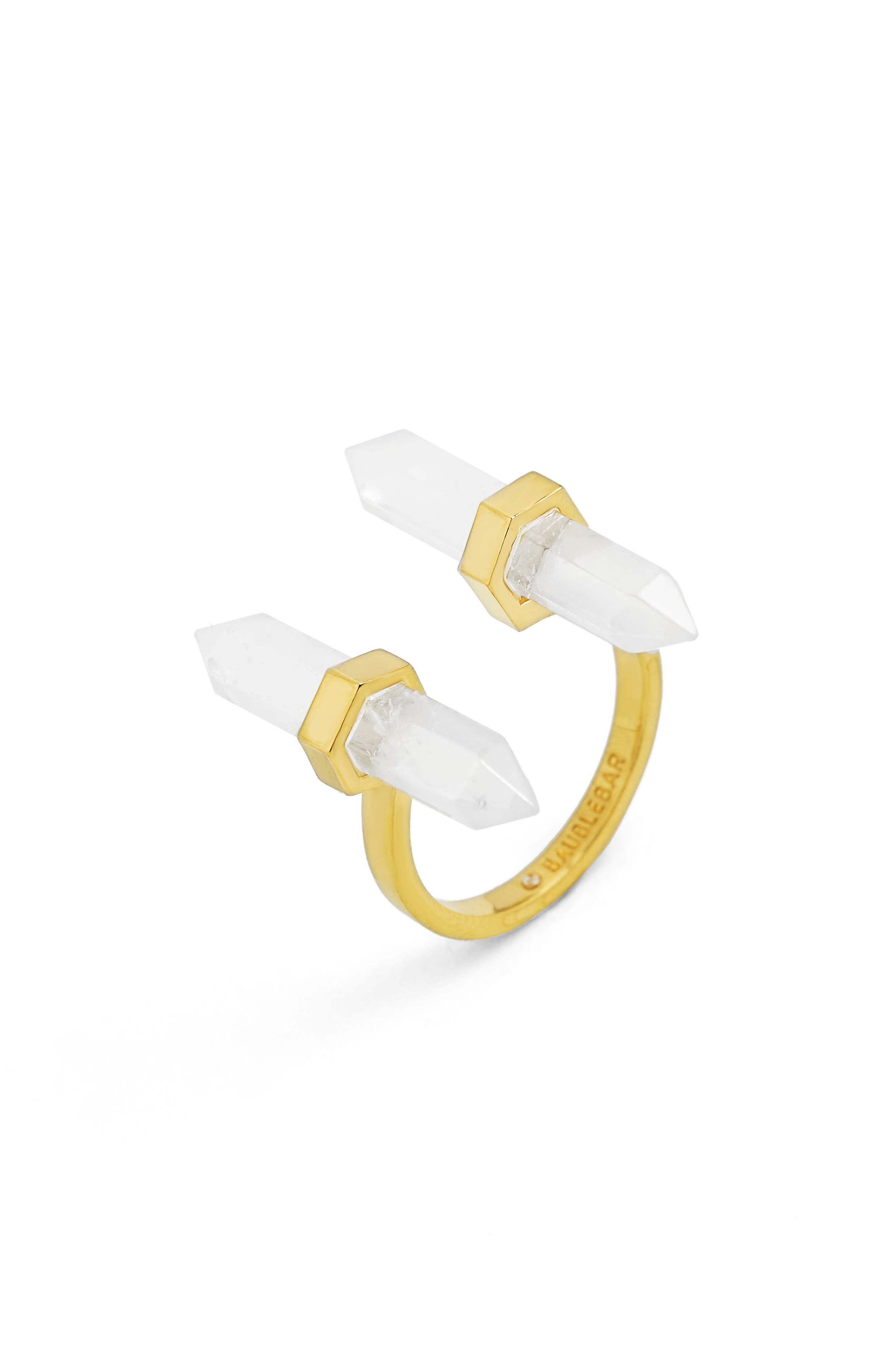 BaubleBar Faden Quartz Open Ring