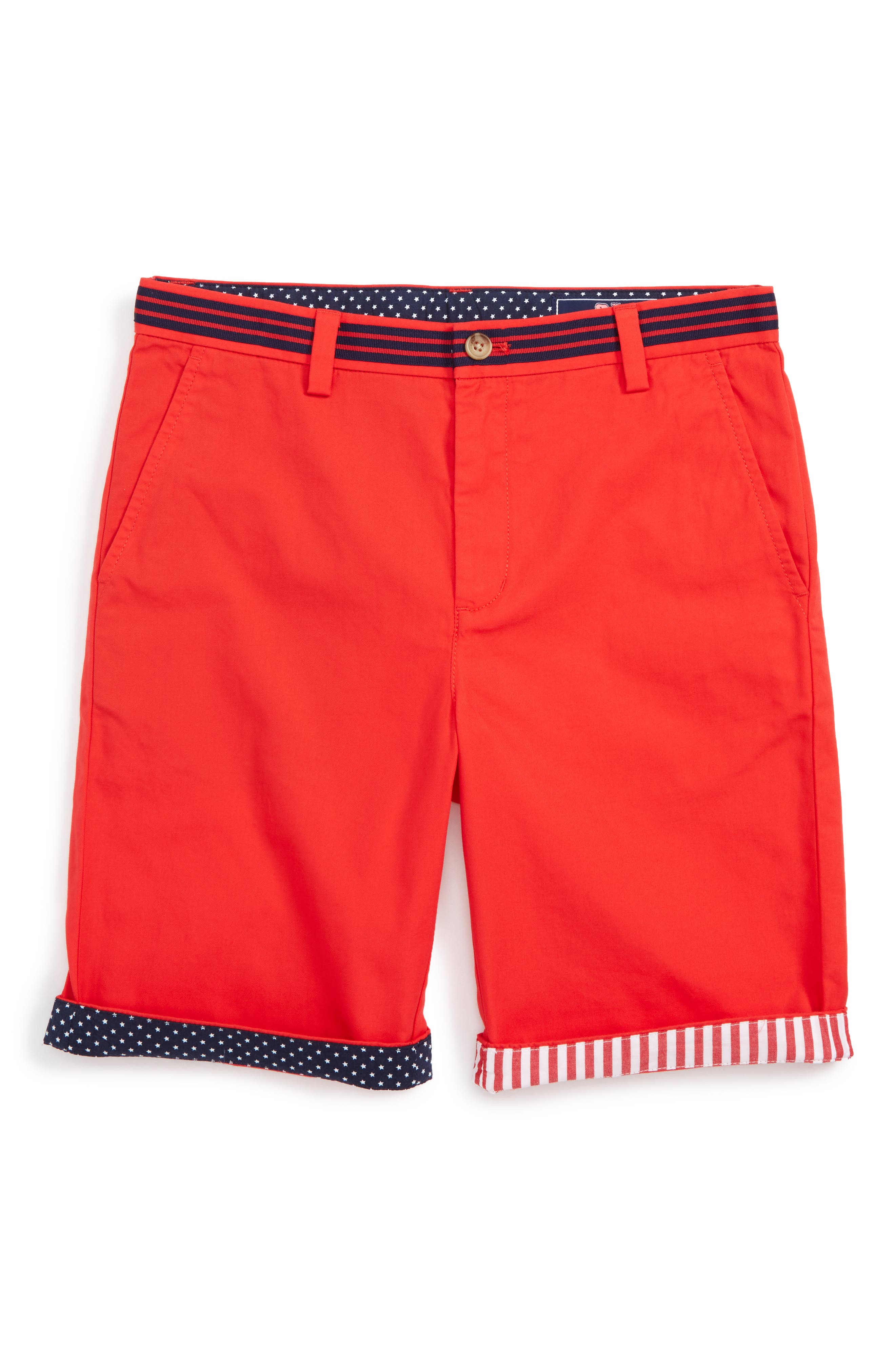 Vineyard Vines Summer Twill USA Breaker Shorts (Toddler Boys, Little Boys & Big Boys)