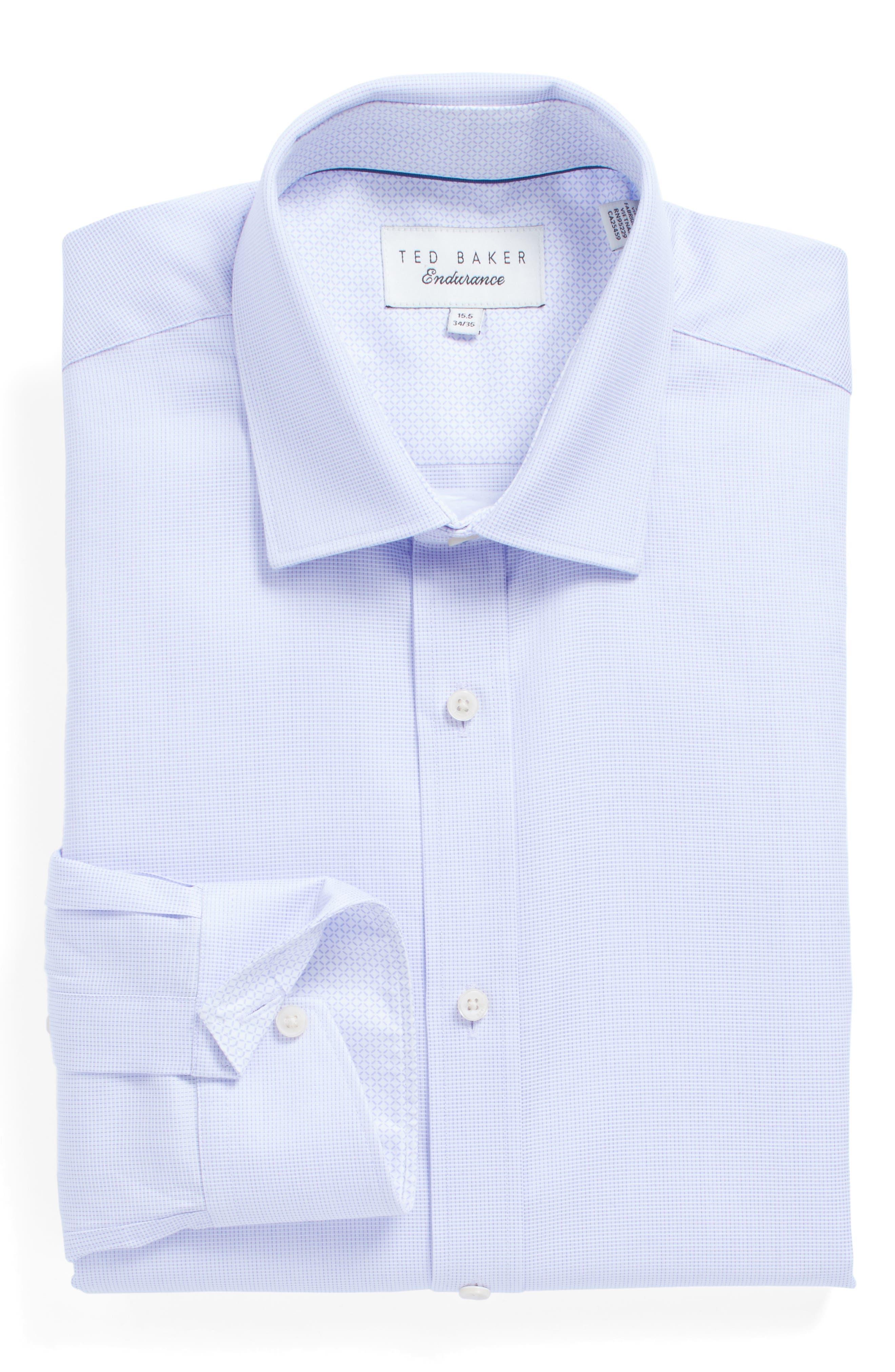 Ted Baker London Brasser Trim Fit Solid Dress Shirt
