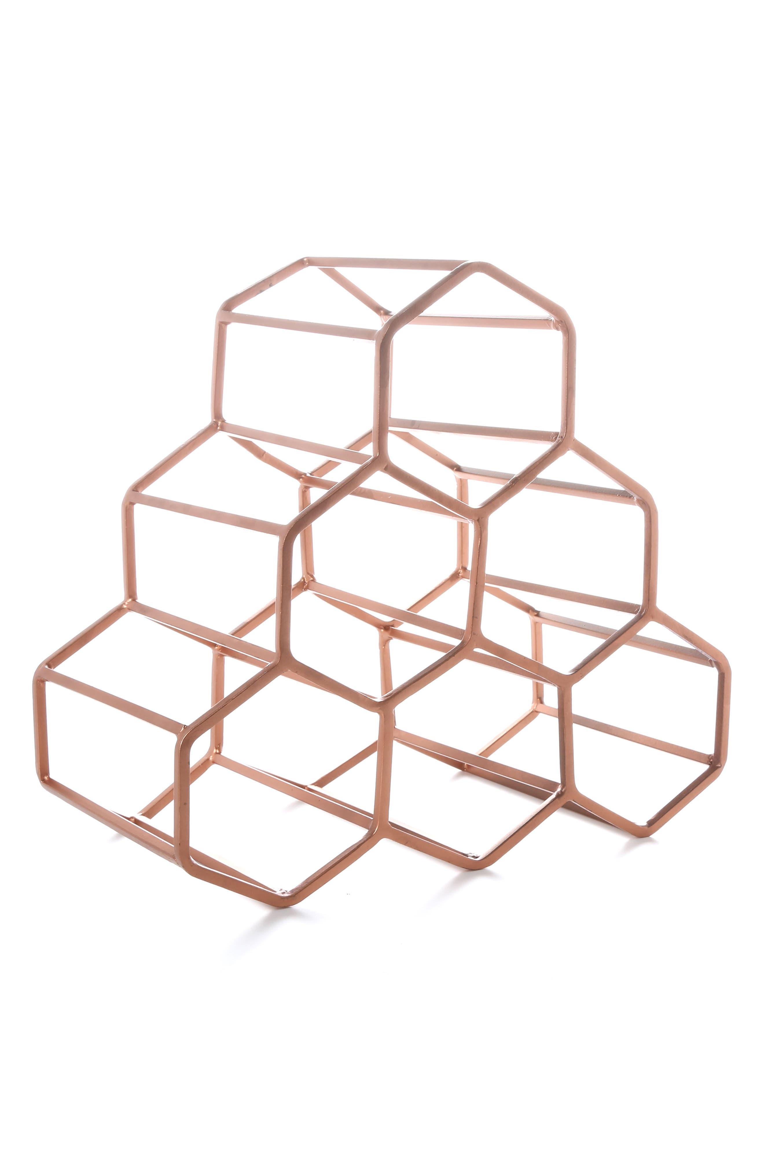 Alternate Image 1 Selected - Thirstystone Copper Finish Wine Rack