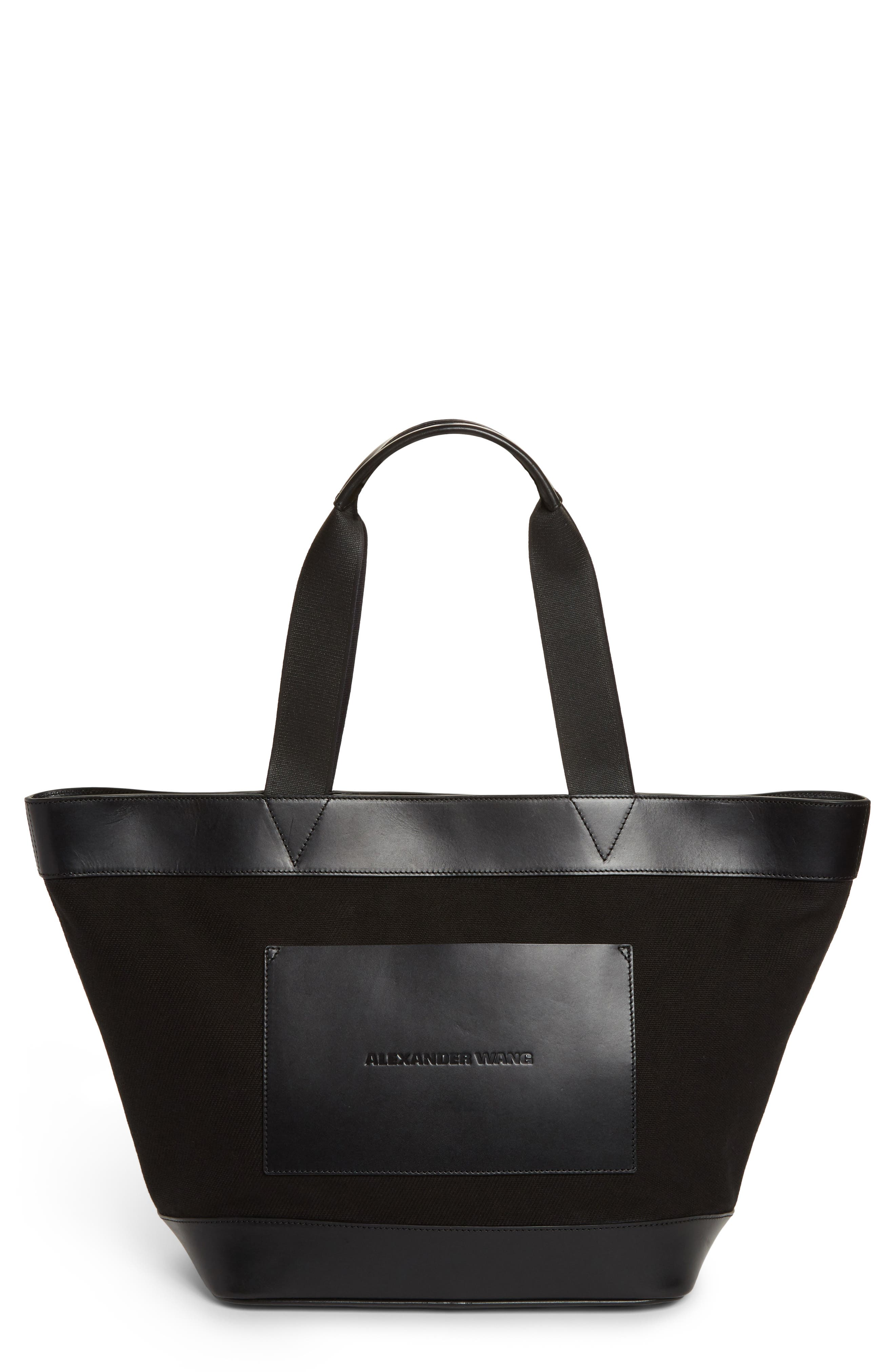 Alexander Wang Large AW Canvas & Leather Tote