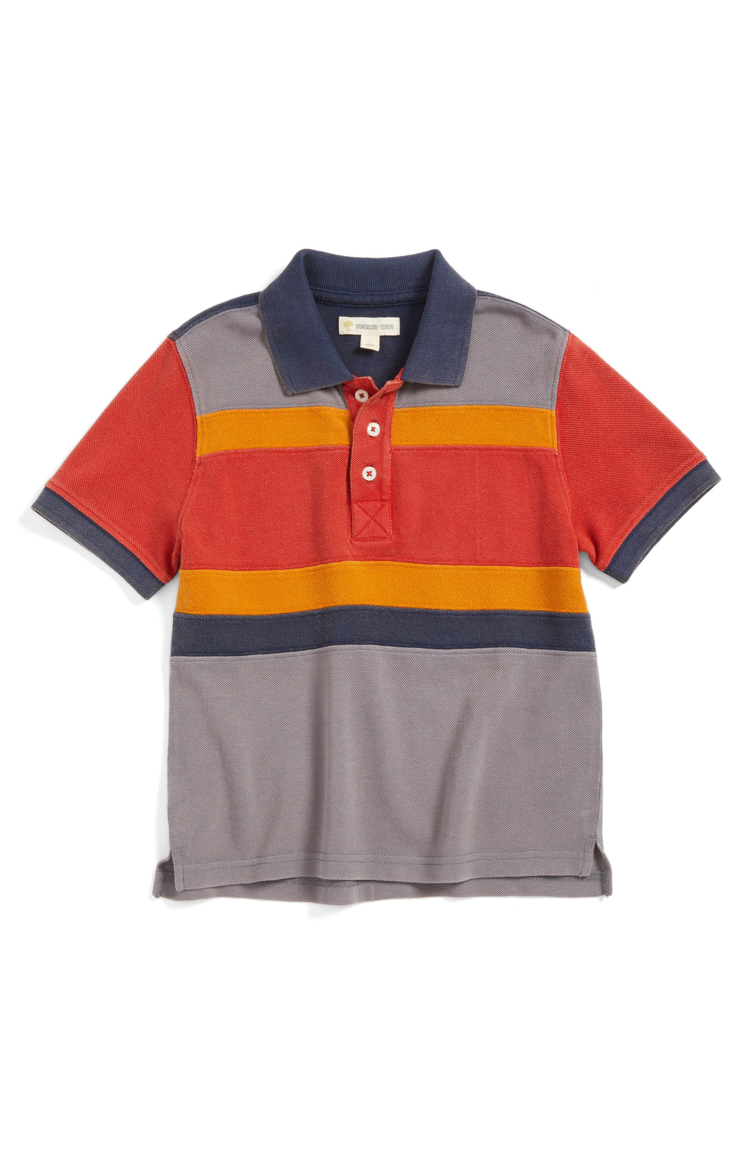 Tucker + Tate Pieced Polo (Toddler Boys & Little Boys)