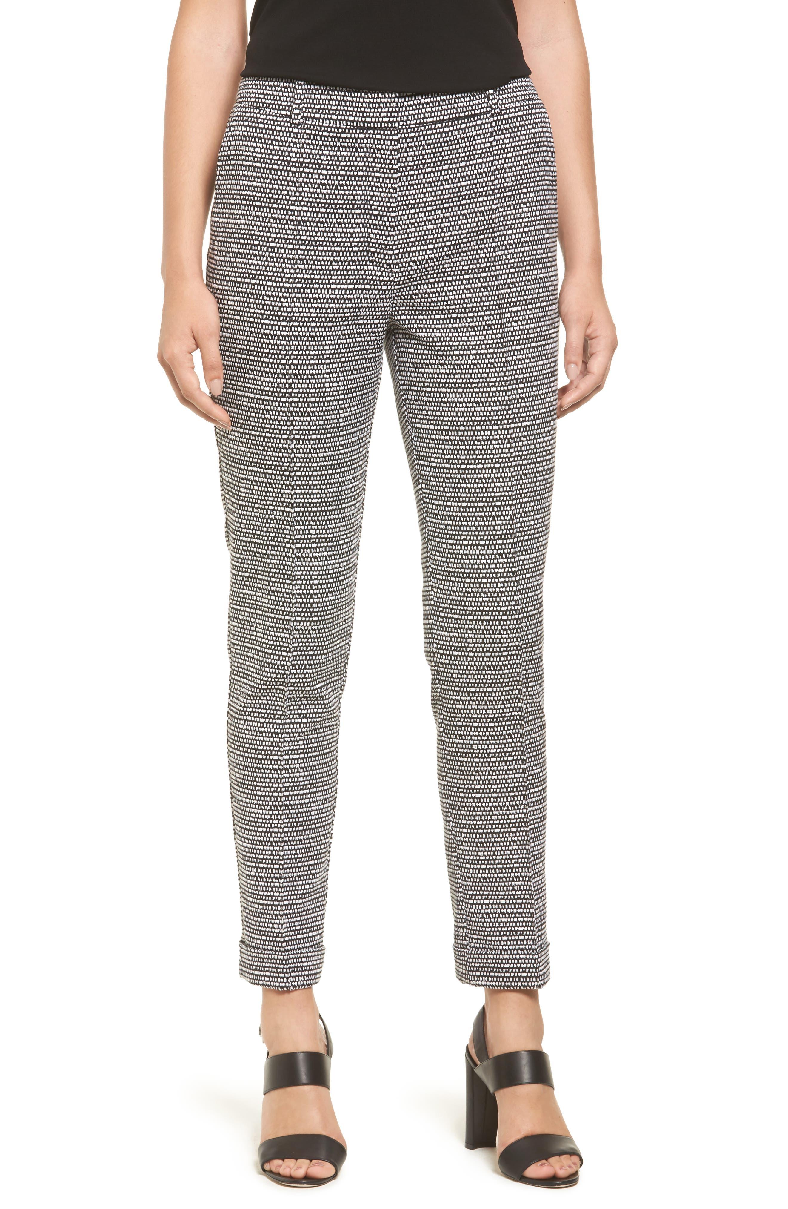 BOSS Acrila Slim Jacquard Suit Trousers