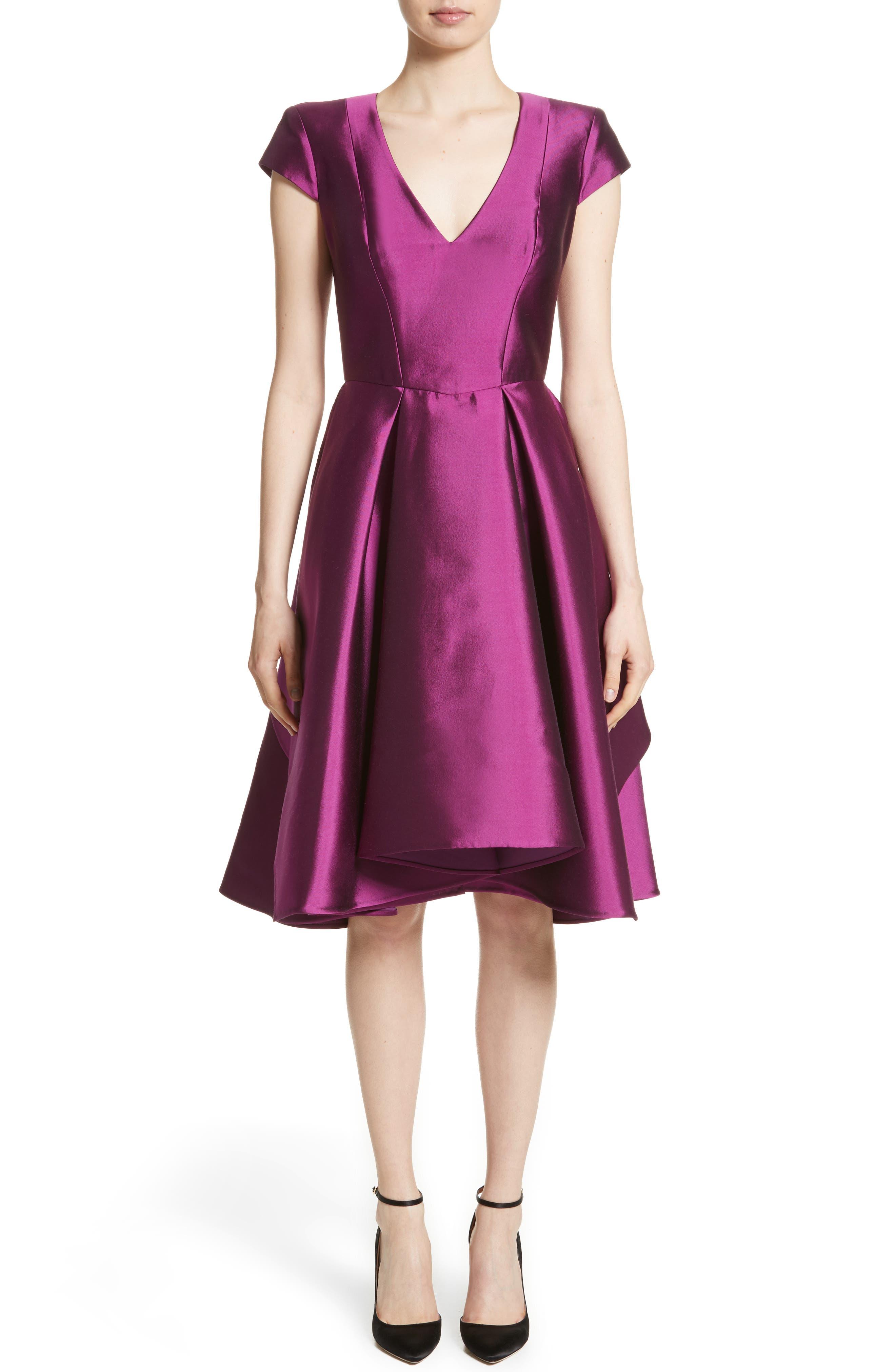 Rubin Singer Fit & Flare Faille Dress