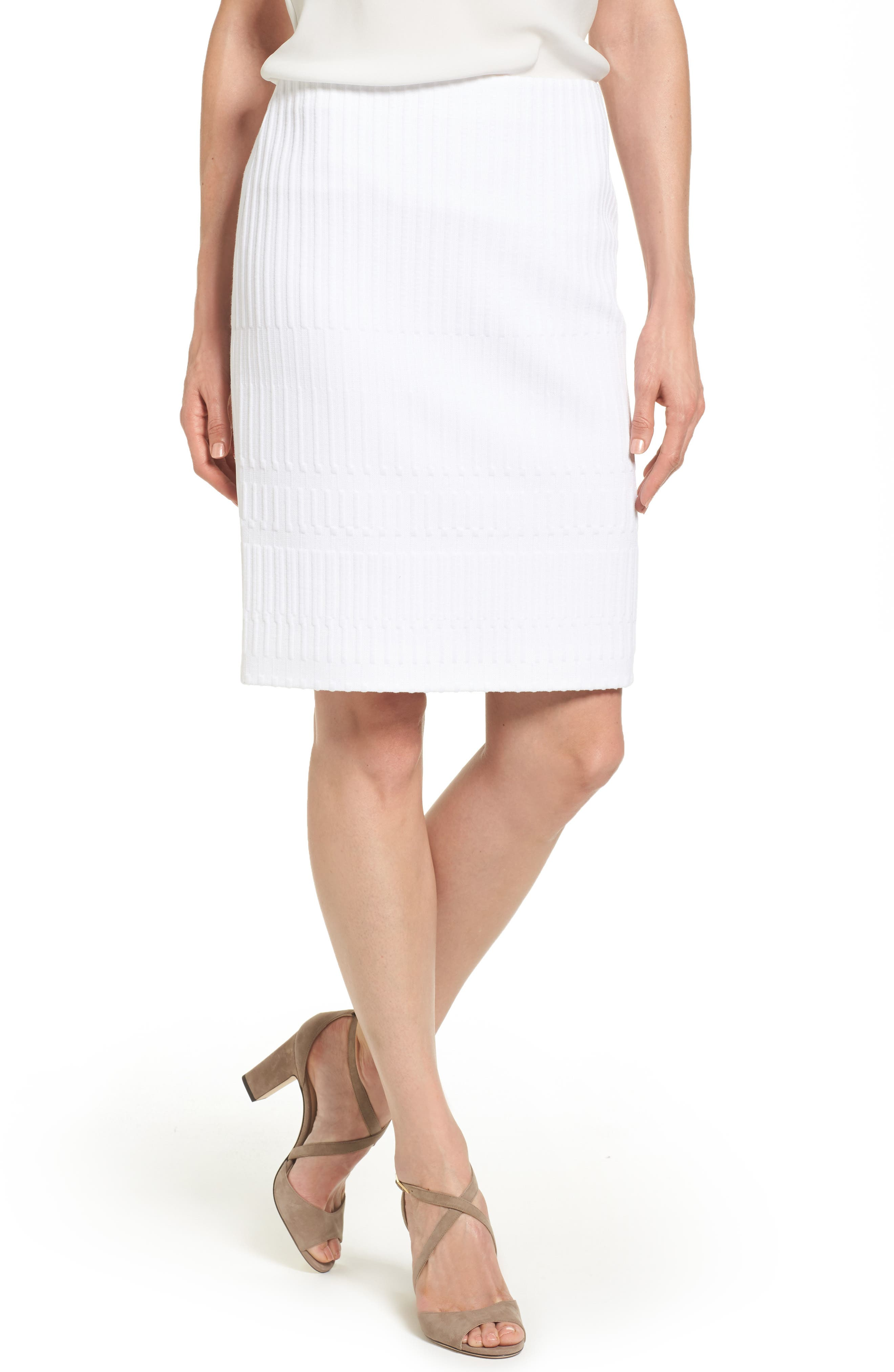 BOSS Madea Textured Jersey Pencil Skirt