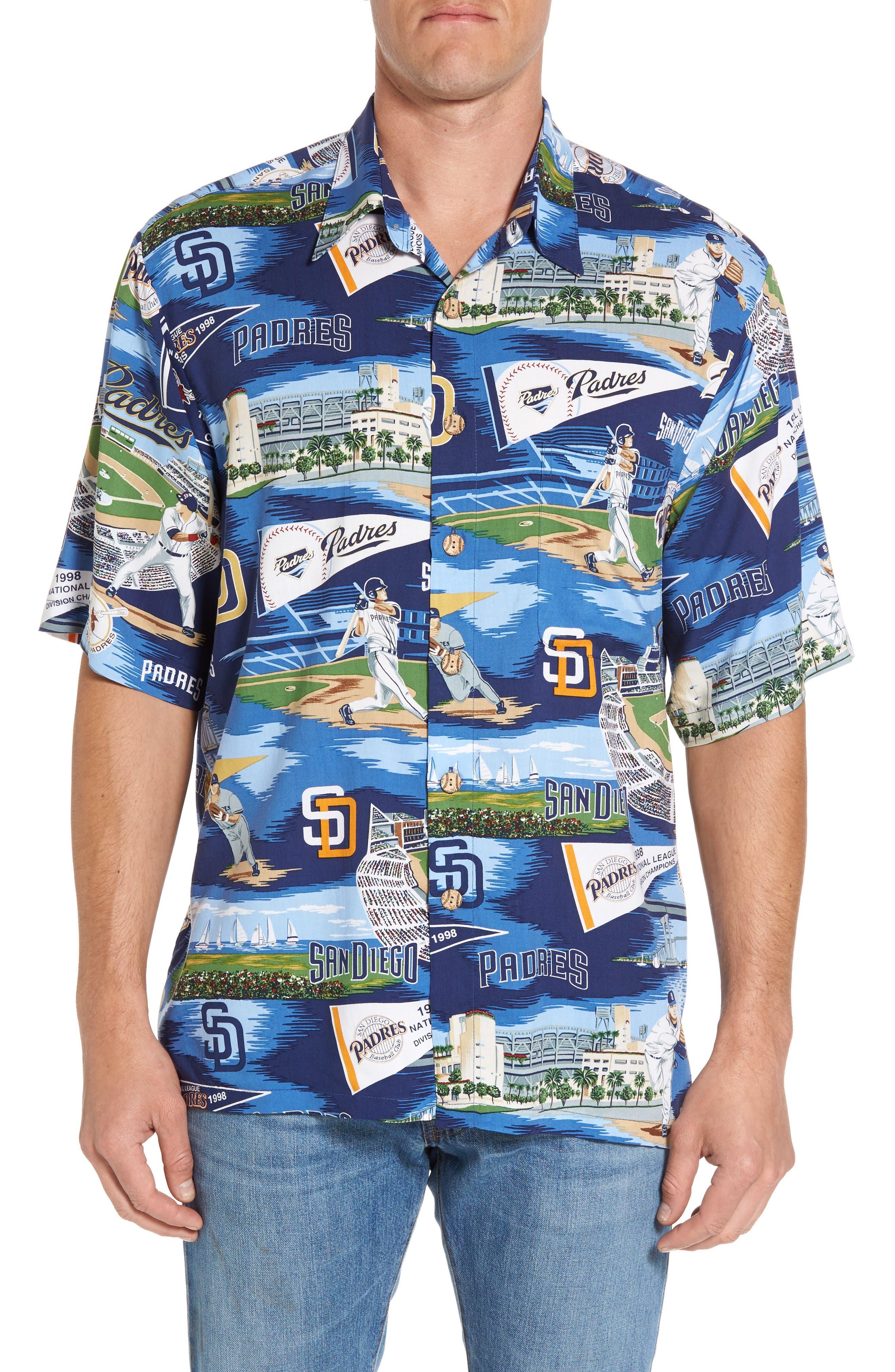 Reyn Spooner San Diego Padres Print Camp Shirt