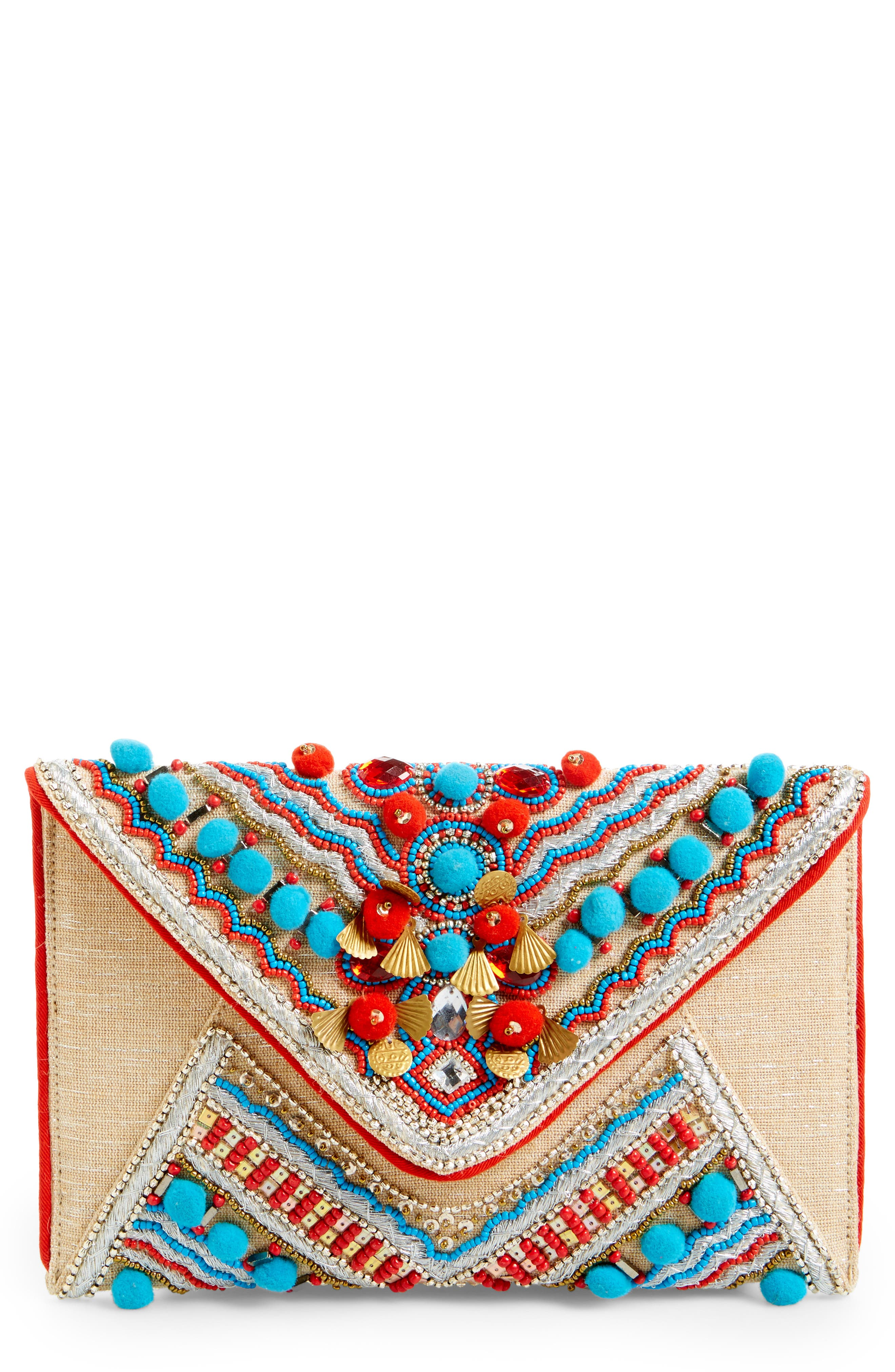Shiraleah Beaded Envelope Clutch