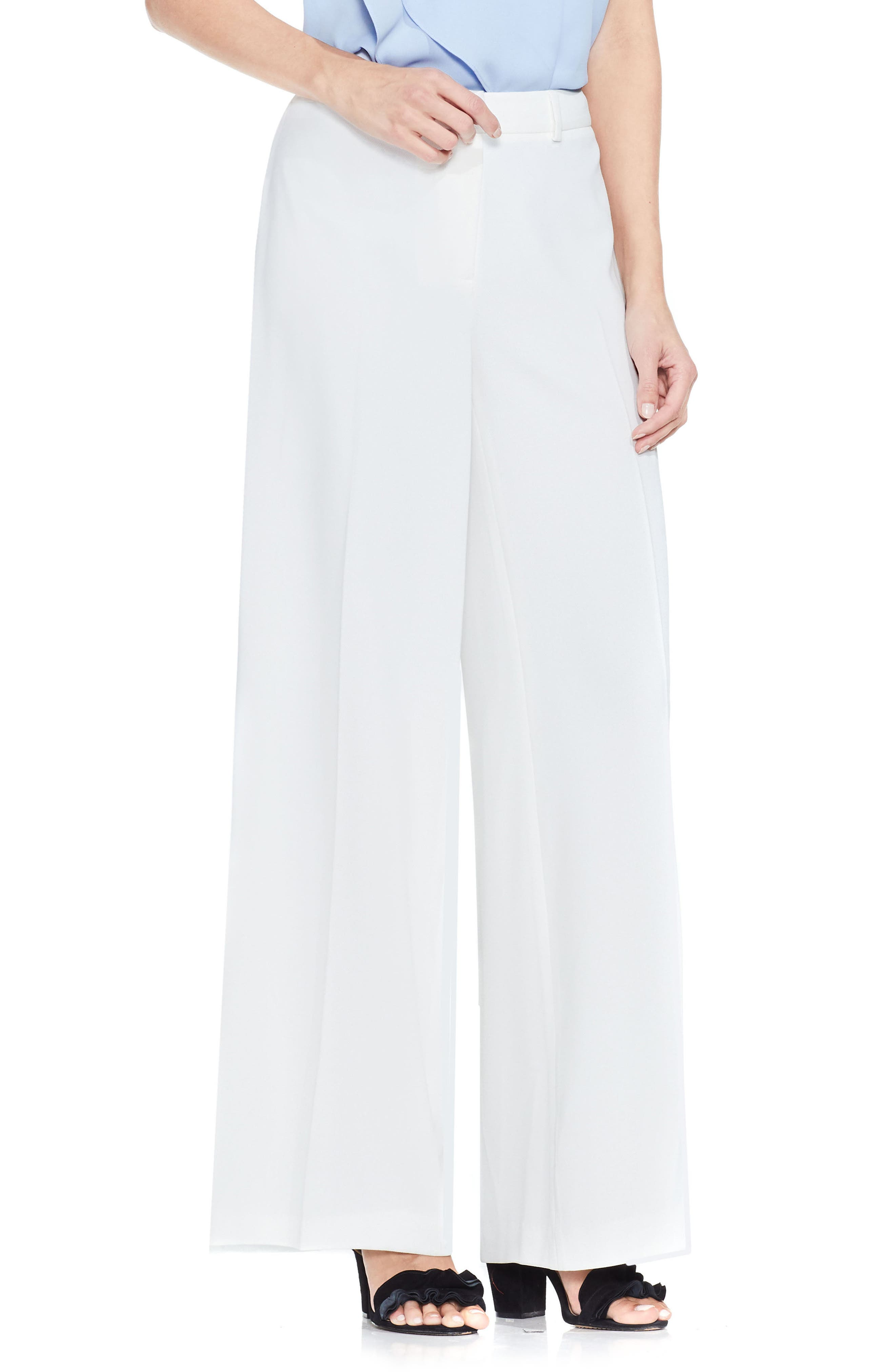 Vince Camuto Texture Base High Waist Pants