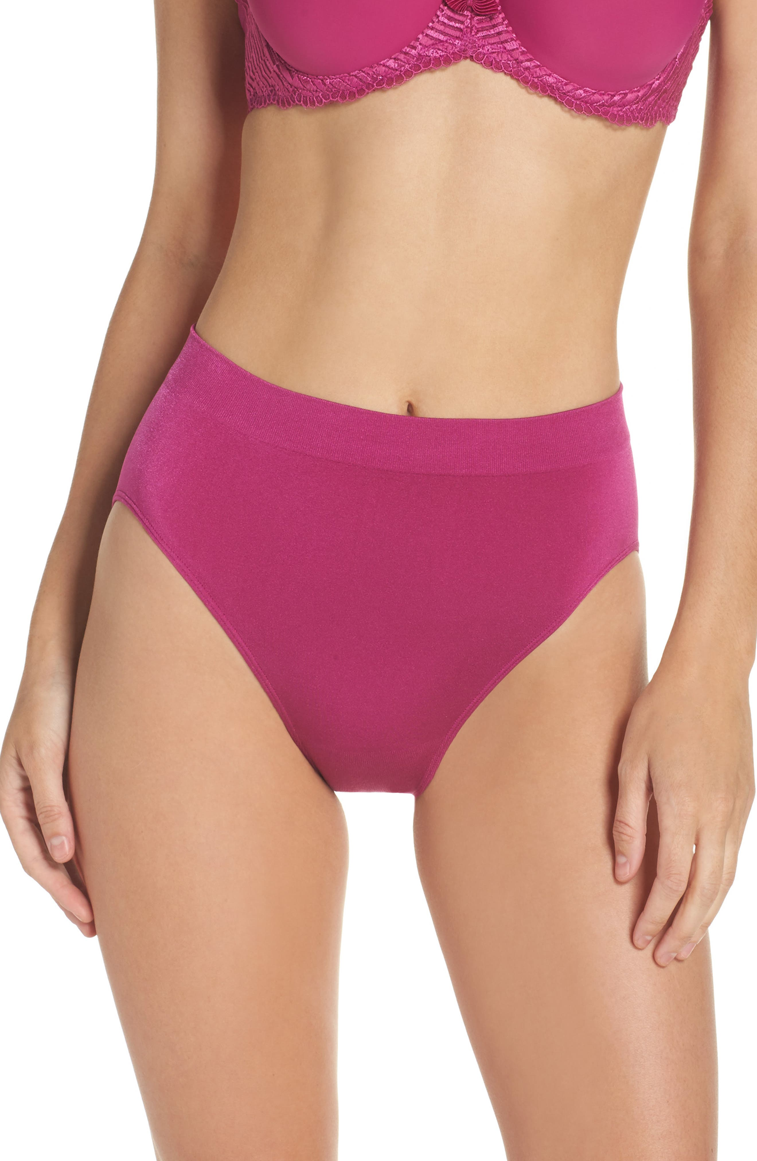 Main Image - Wacoal B Smooth High Cut Briefs (3 for $39)