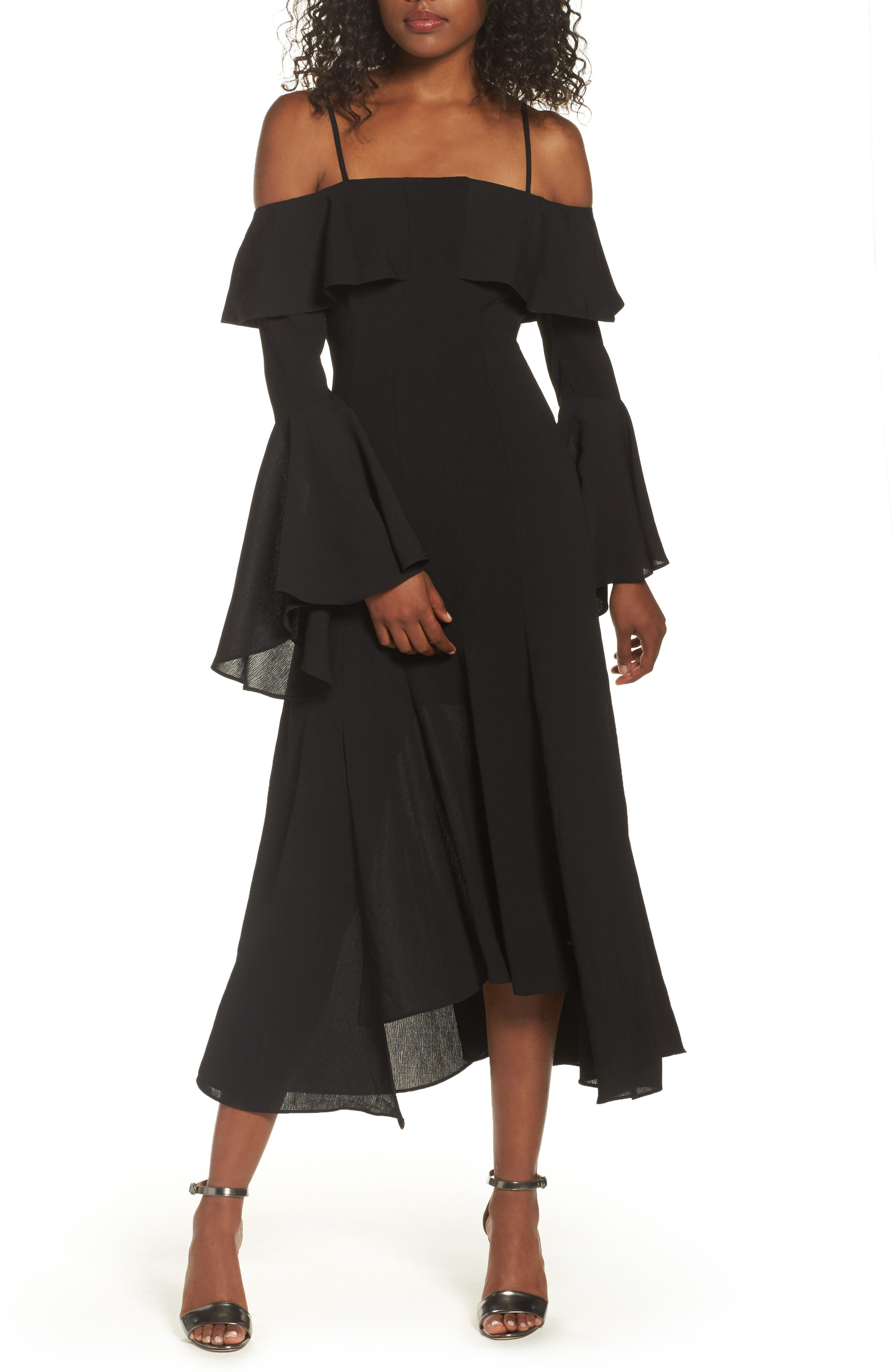 C/MEO Collective Compose Off the Shoulder Midi Dress