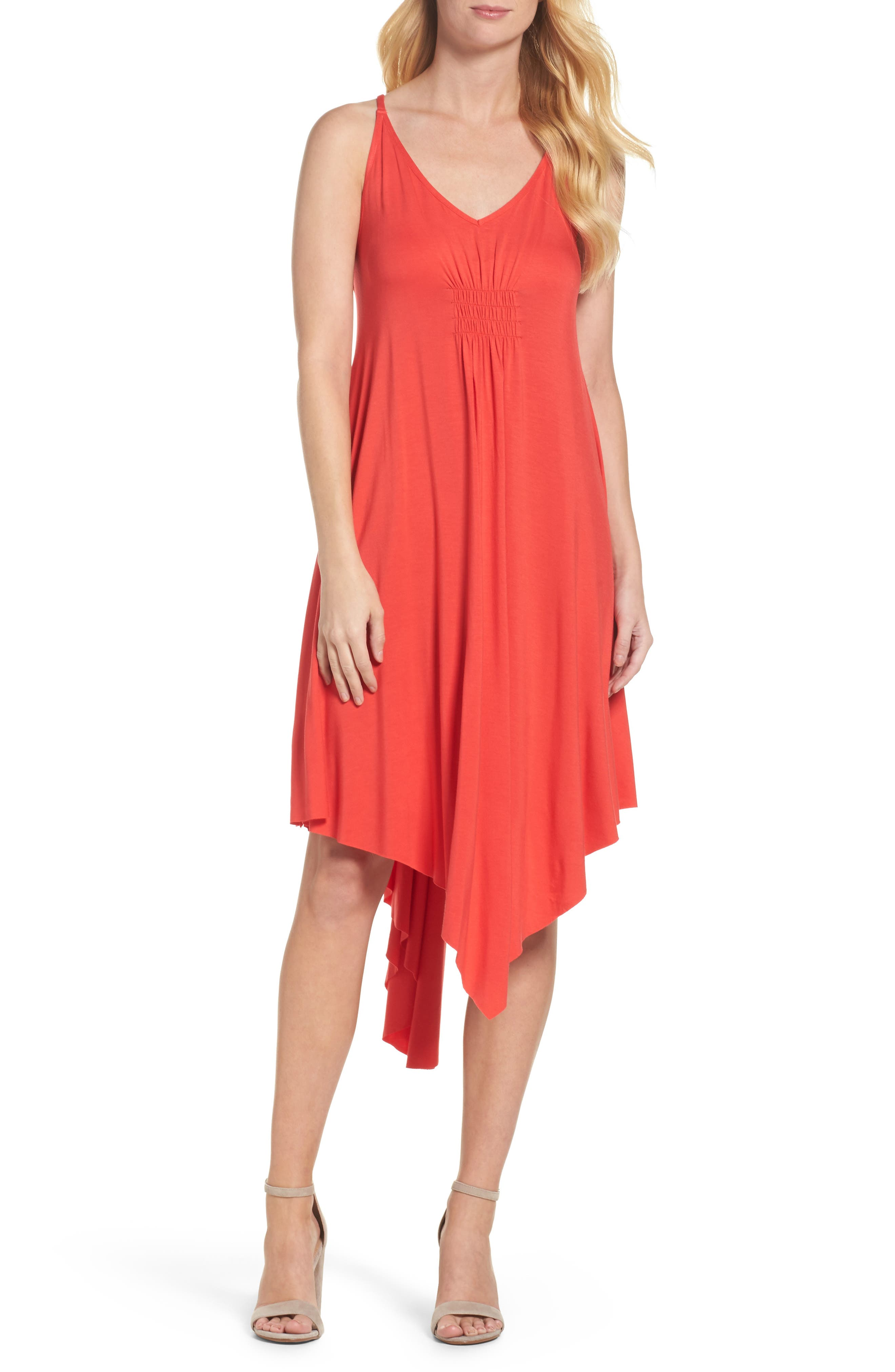 Felicity & Coco Luna Asymmetric Hem Dress (Nordstrom Exclusive)