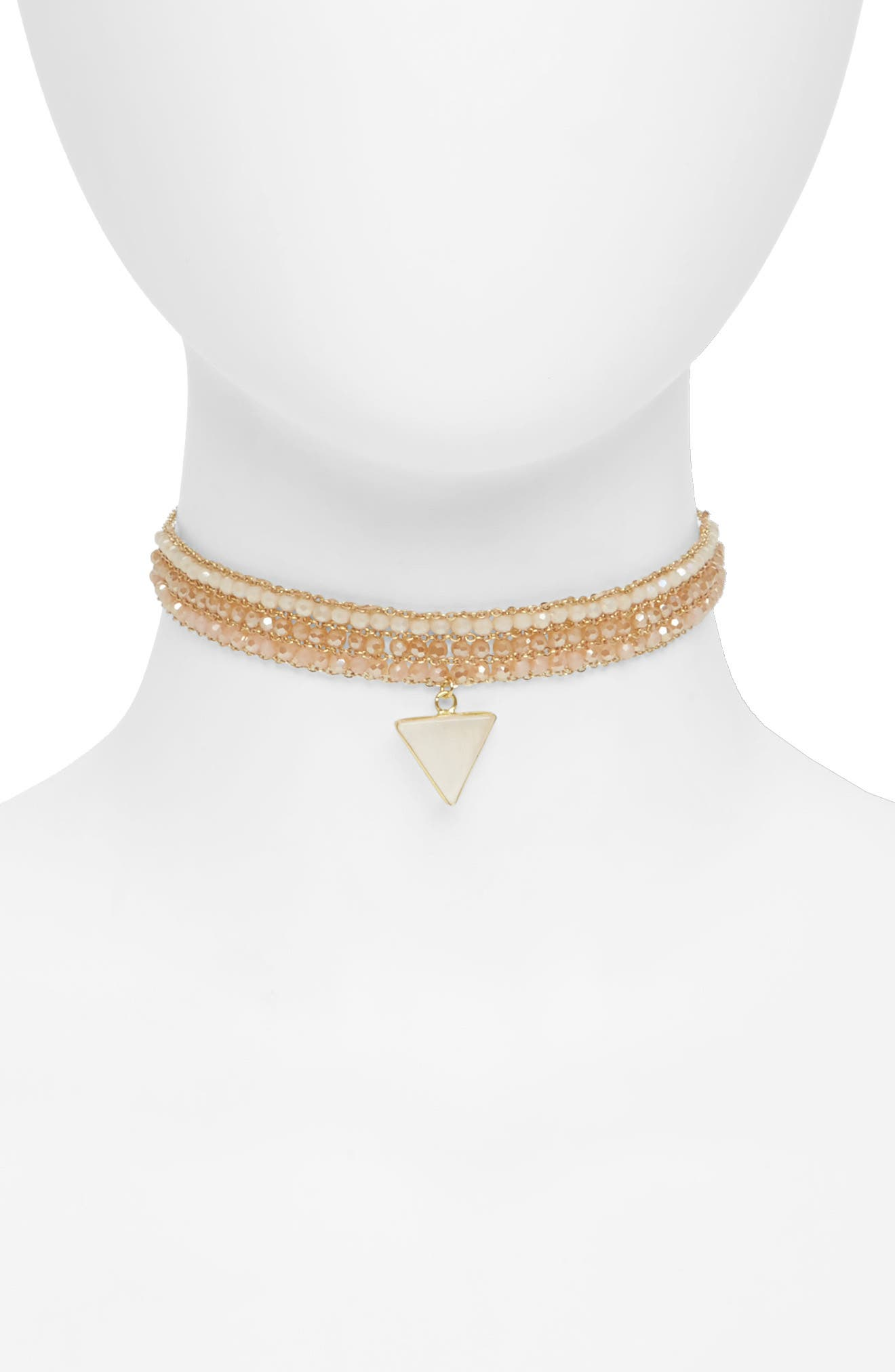 Panacea Rose Quartz Drop Choker