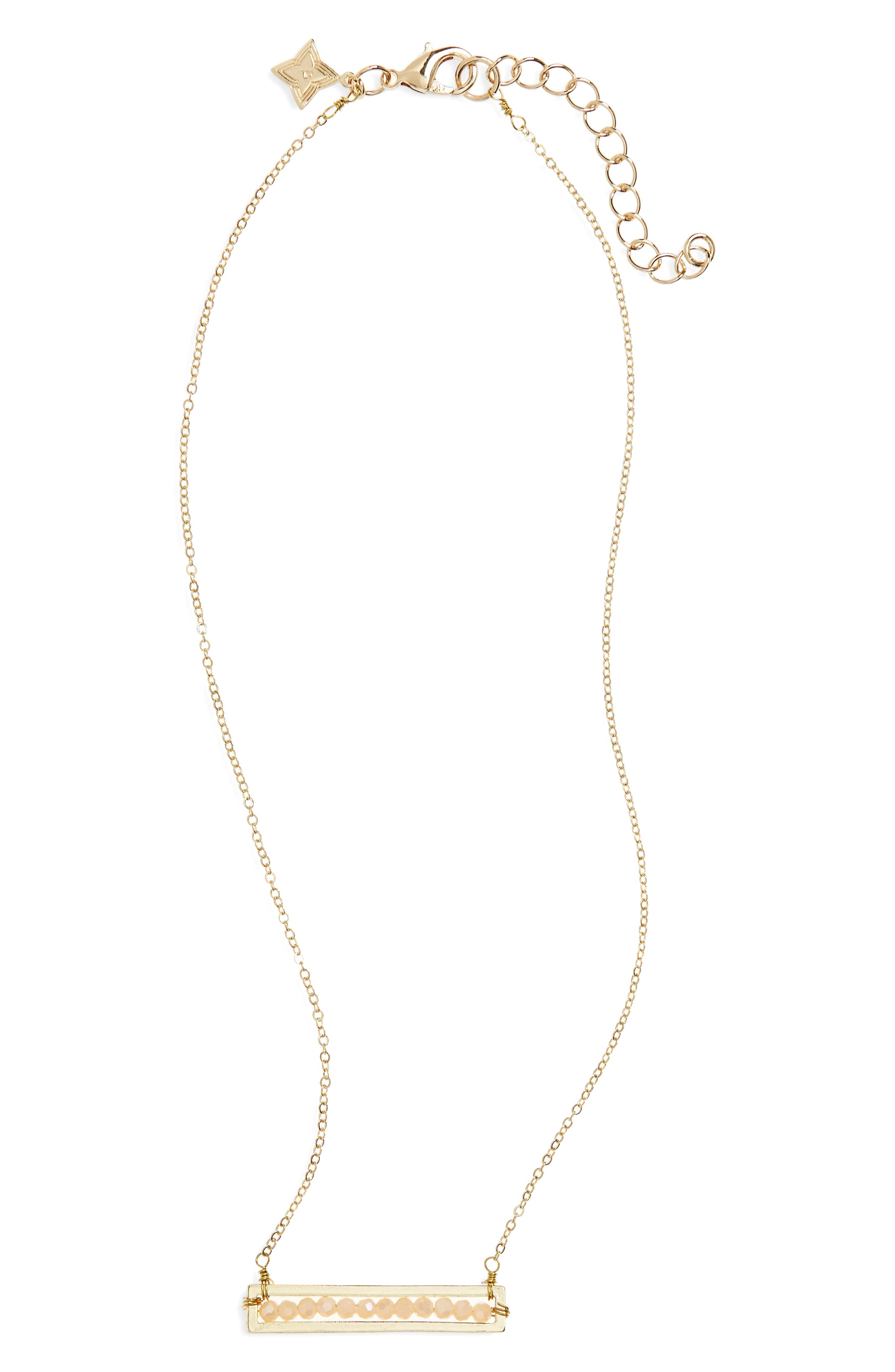 Panacea Crystal Bar Necklace