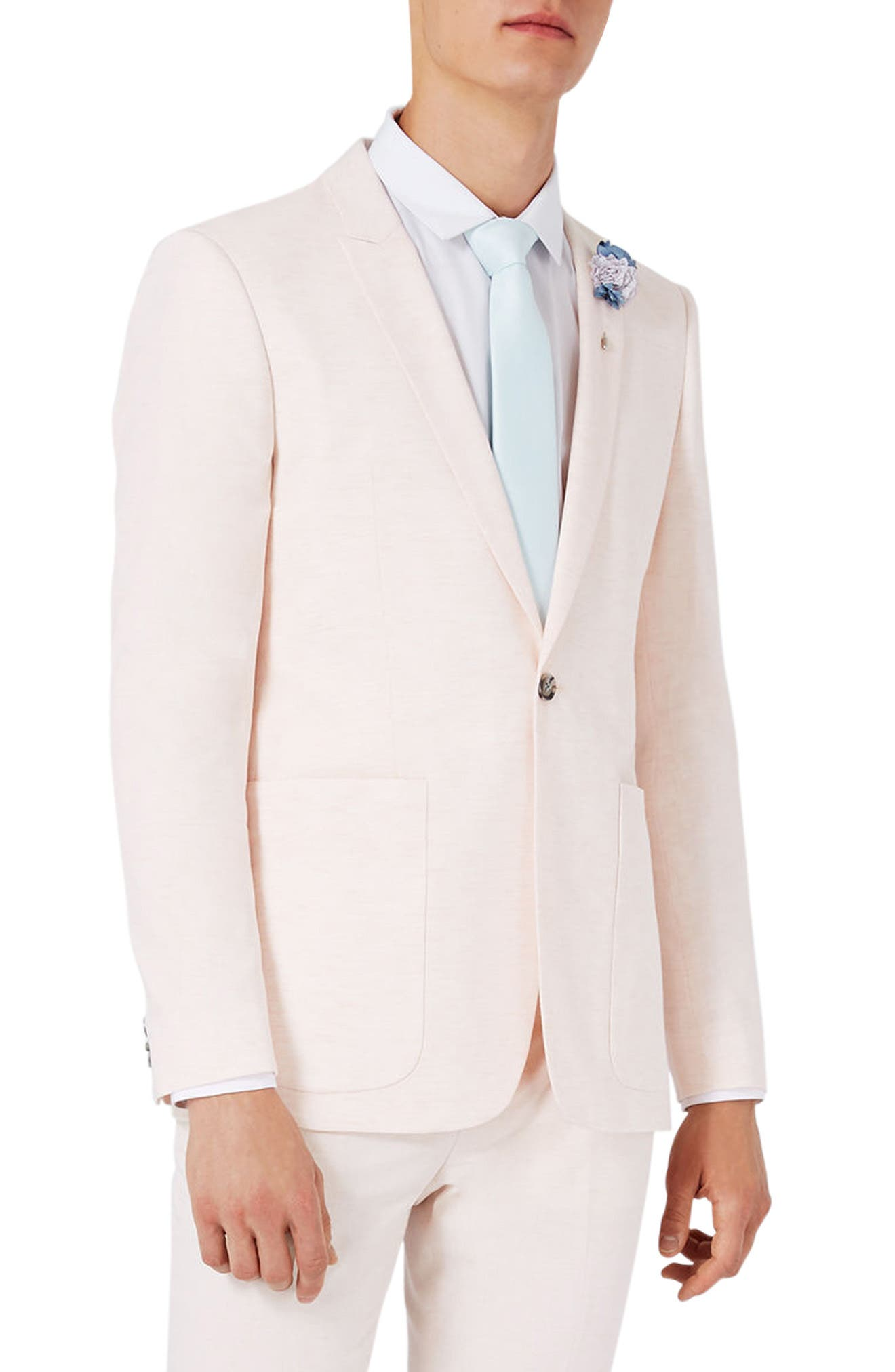 Topman Lightweight Skinny Fit Suit Jacket