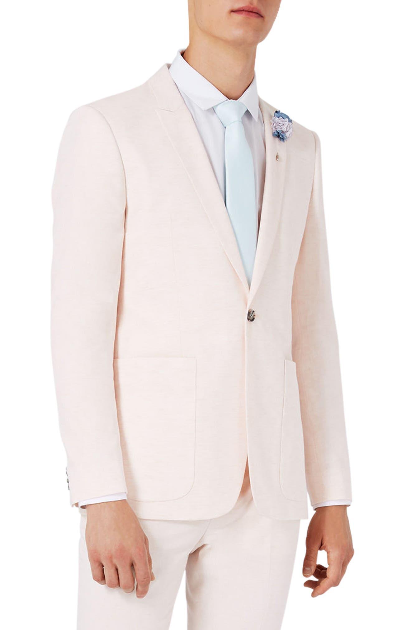 Topman Lightweight Skinny Fit Suit Jacket