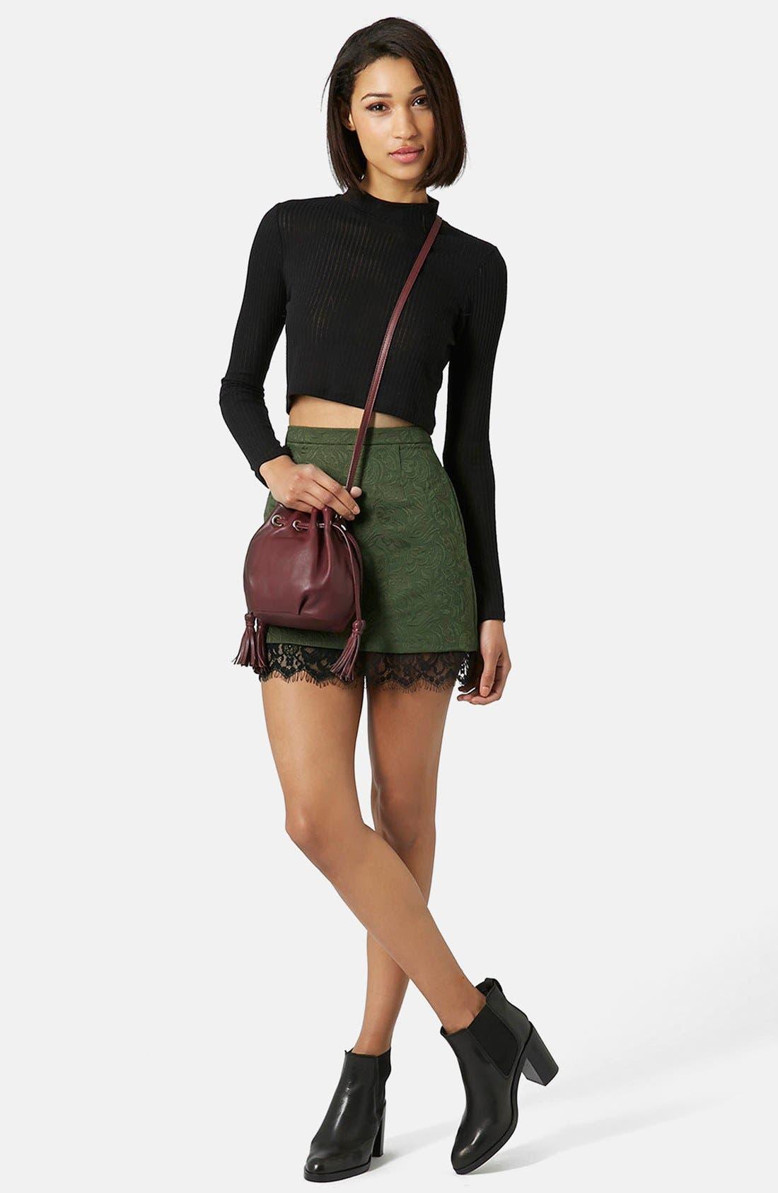 Alternate Image 5  - Topshop Textured Lace Pelmet Skirt