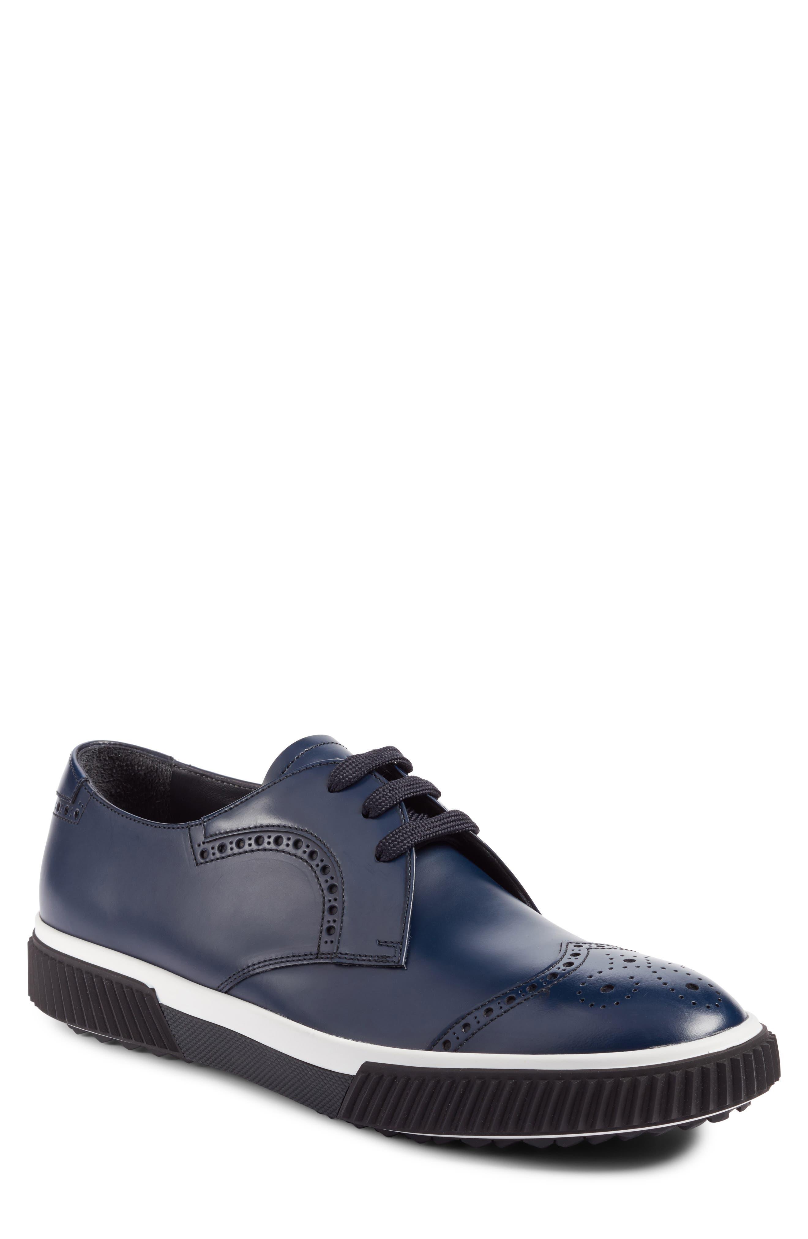 Prada Linea Rossa Wingtip Sneaker (Men)