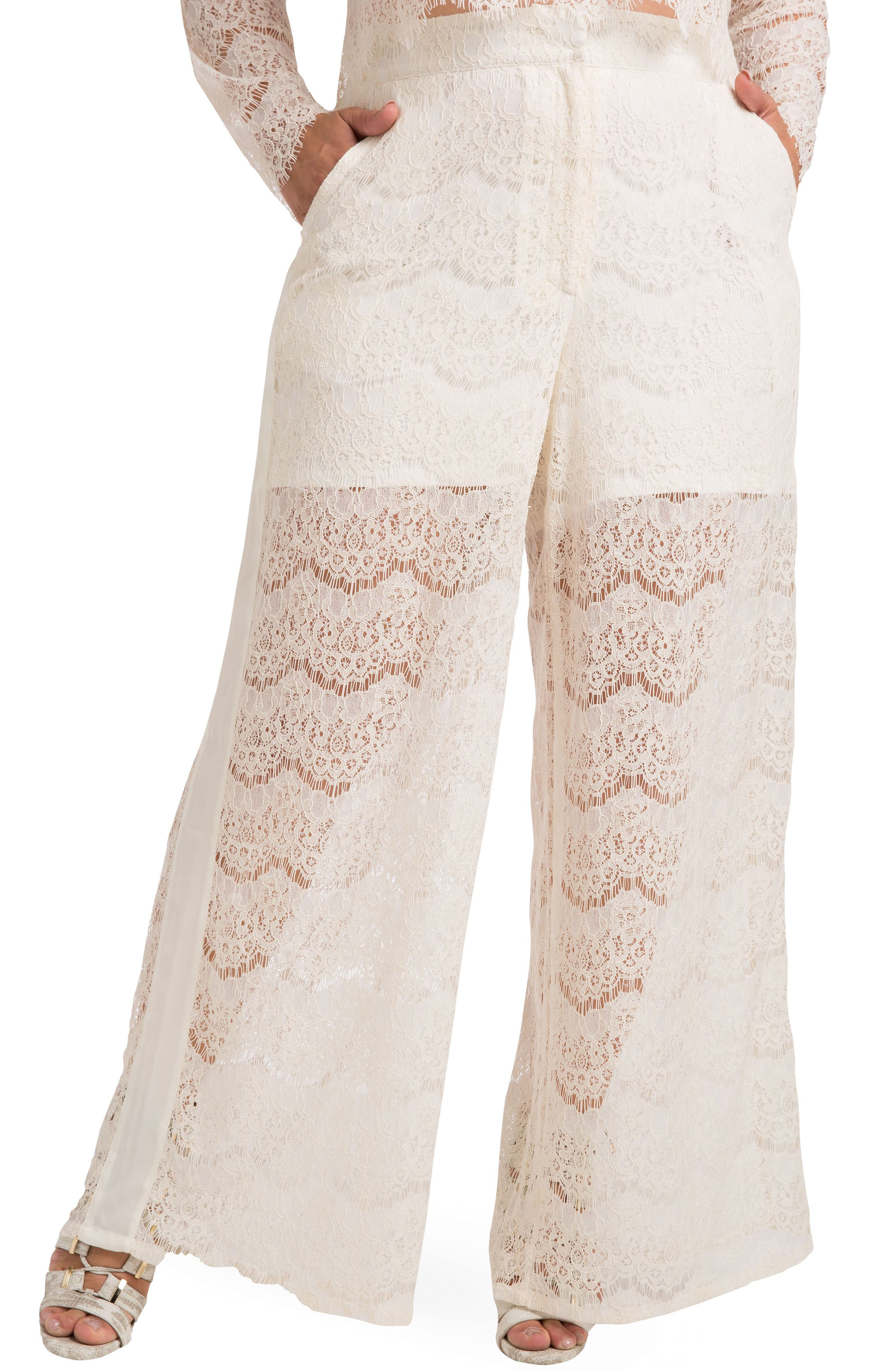 Standards & Practices April Lace Palazzo Pants (Plus Size)