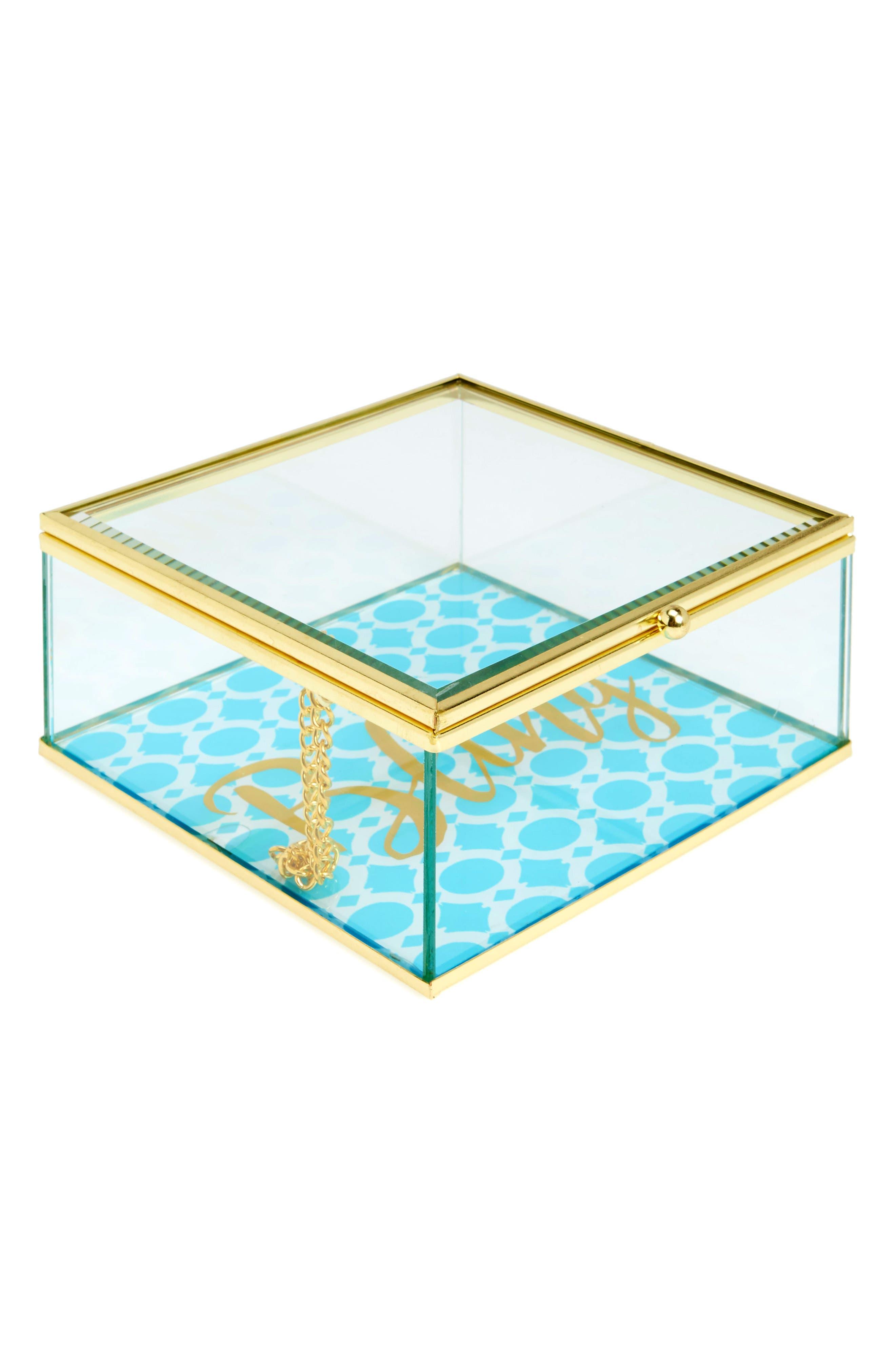American Atelier Glass Jewelry Box