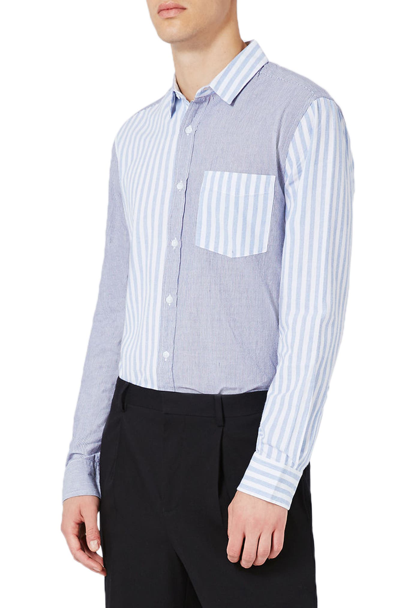 Topshop Mixed Stripe Shirt