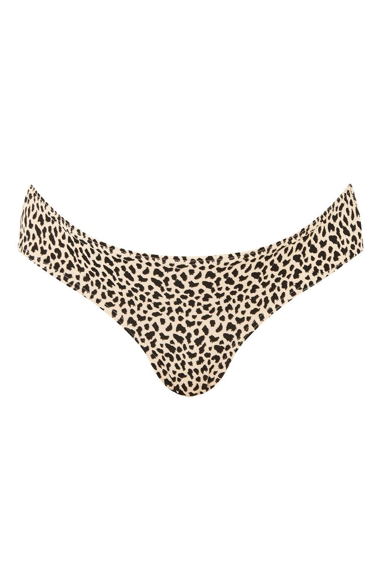 Topshop Leopard Maternity Bikini Bottoms