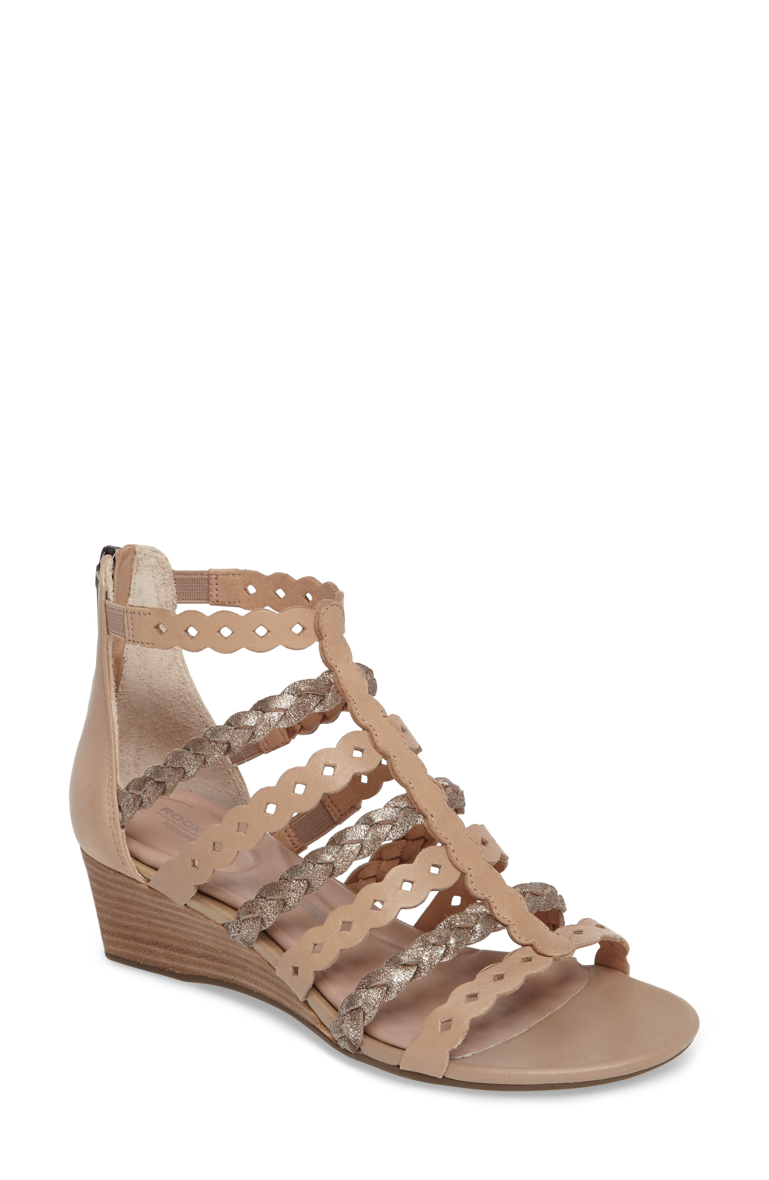 Rockport Total Motion® Gladiator Wedge Sandal (Women)