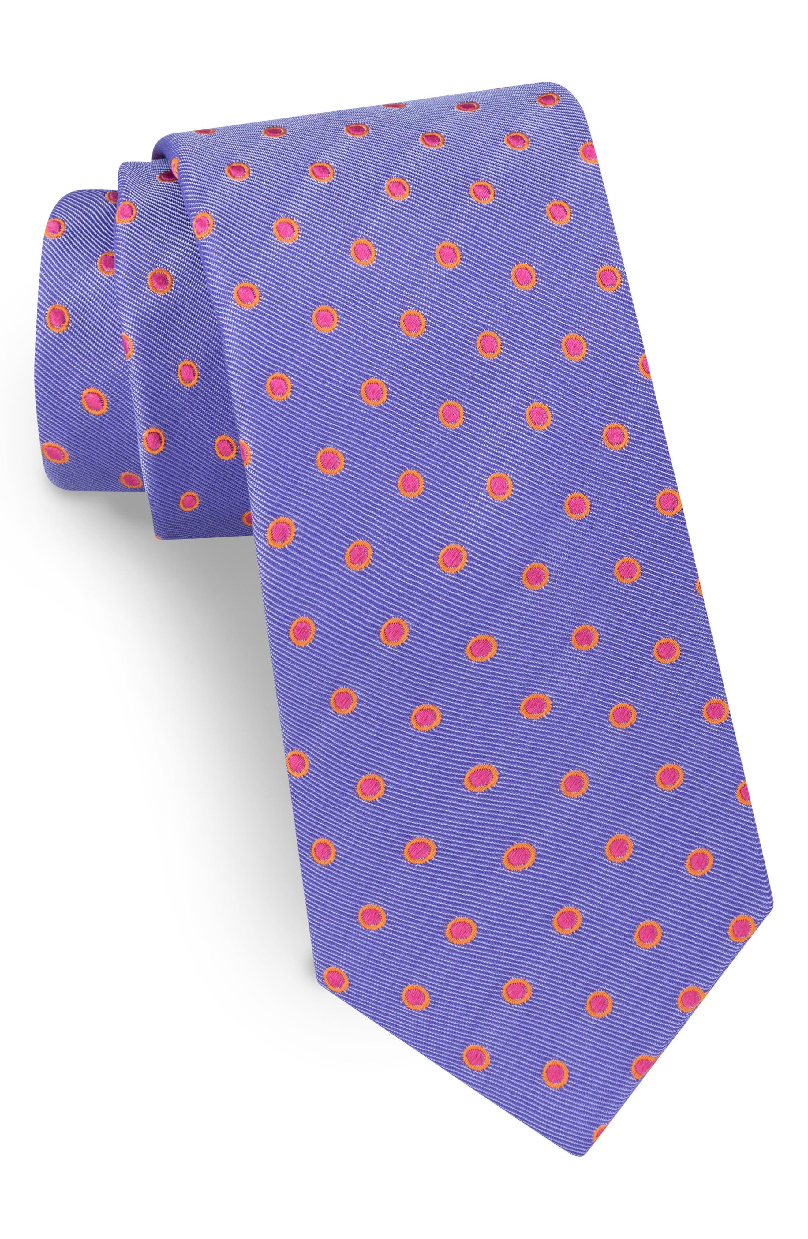 TED BAKER Dot Silk Tie in Purple
