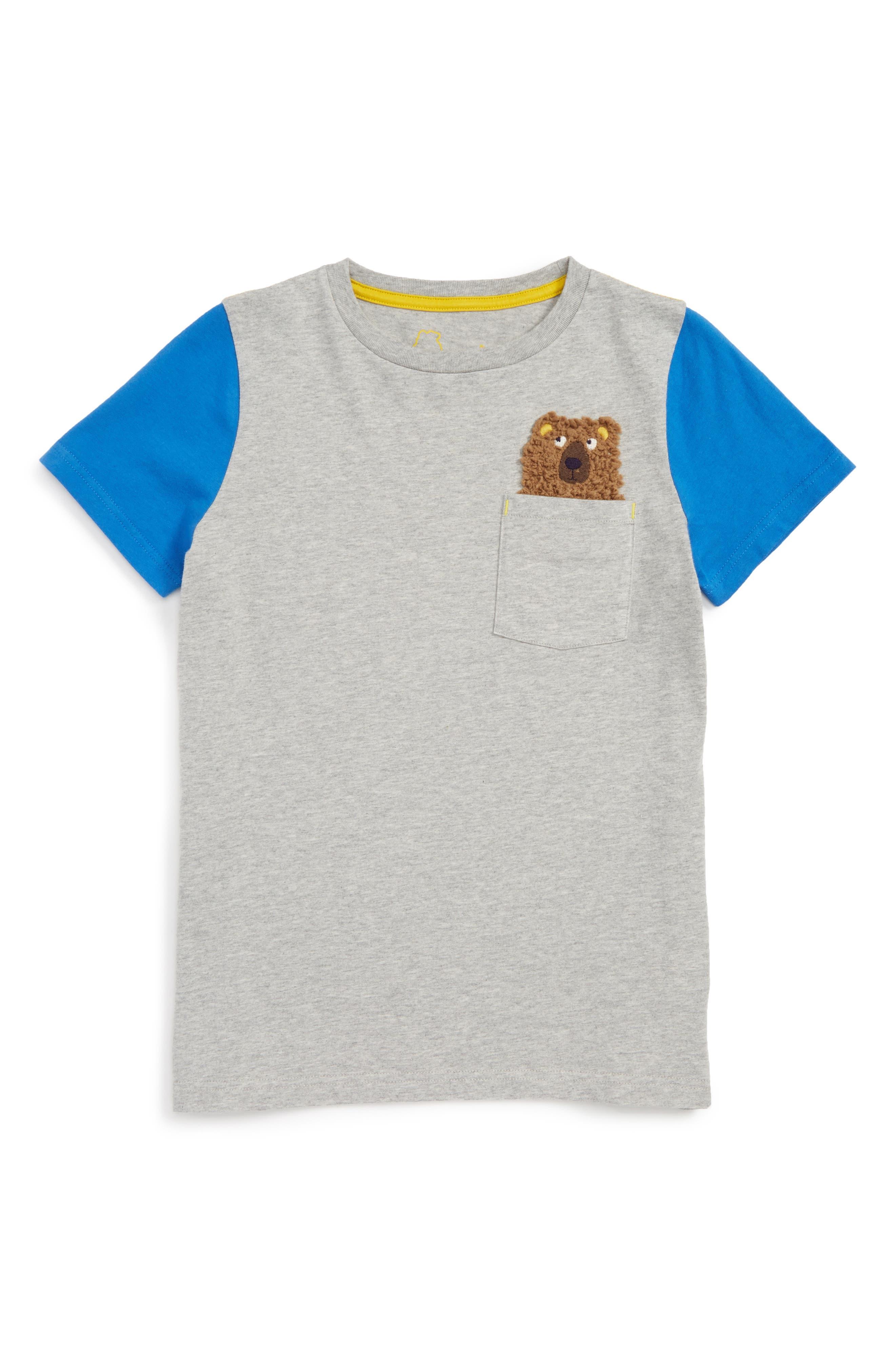 Mini Boden Pocket Friends T-Shirt (Toddler Boys, Little Boys & Big Boys)