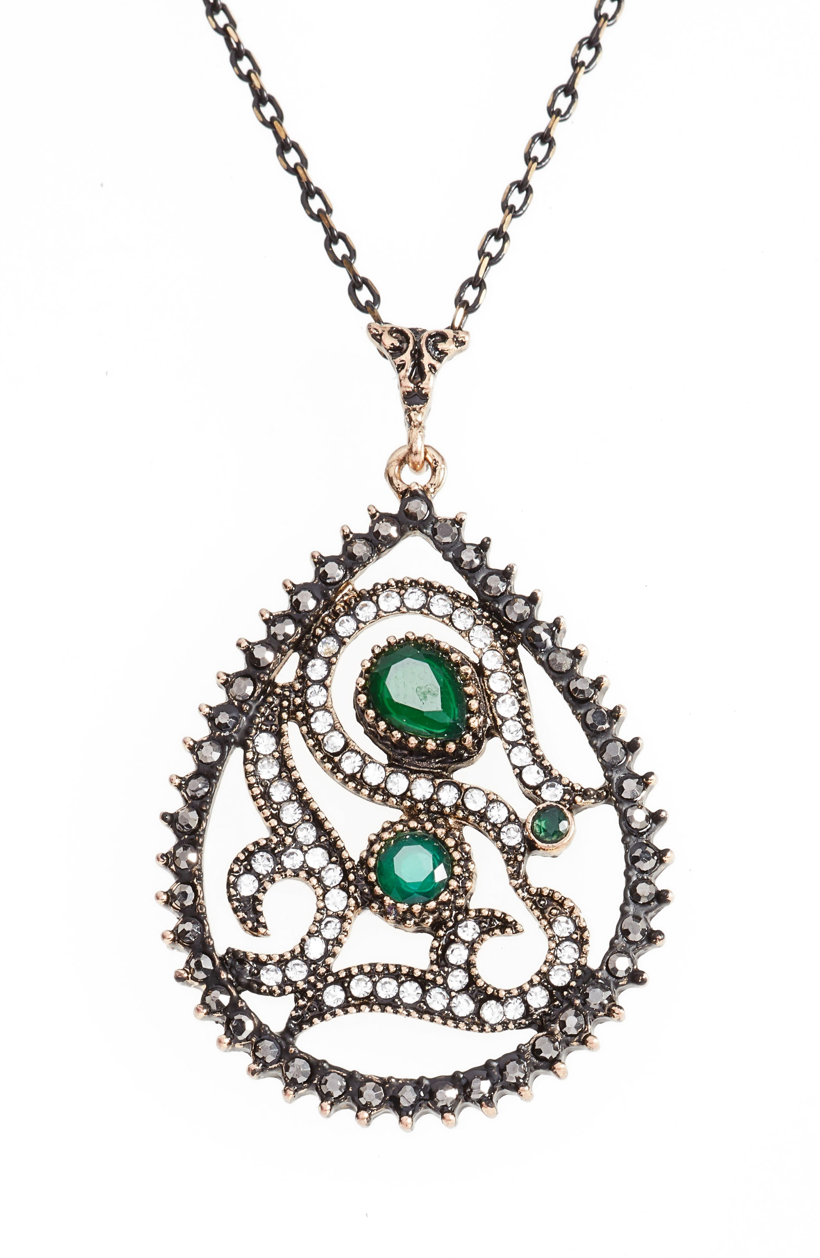 Sareh by Sareh Nouri Dena Paisley Teardrop Pendant Necklace