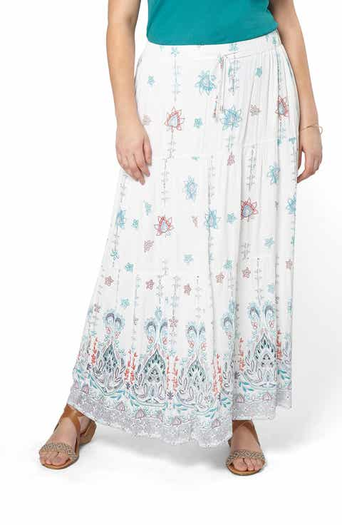 Evans Tiered Maxi Skirt (Plus Size)