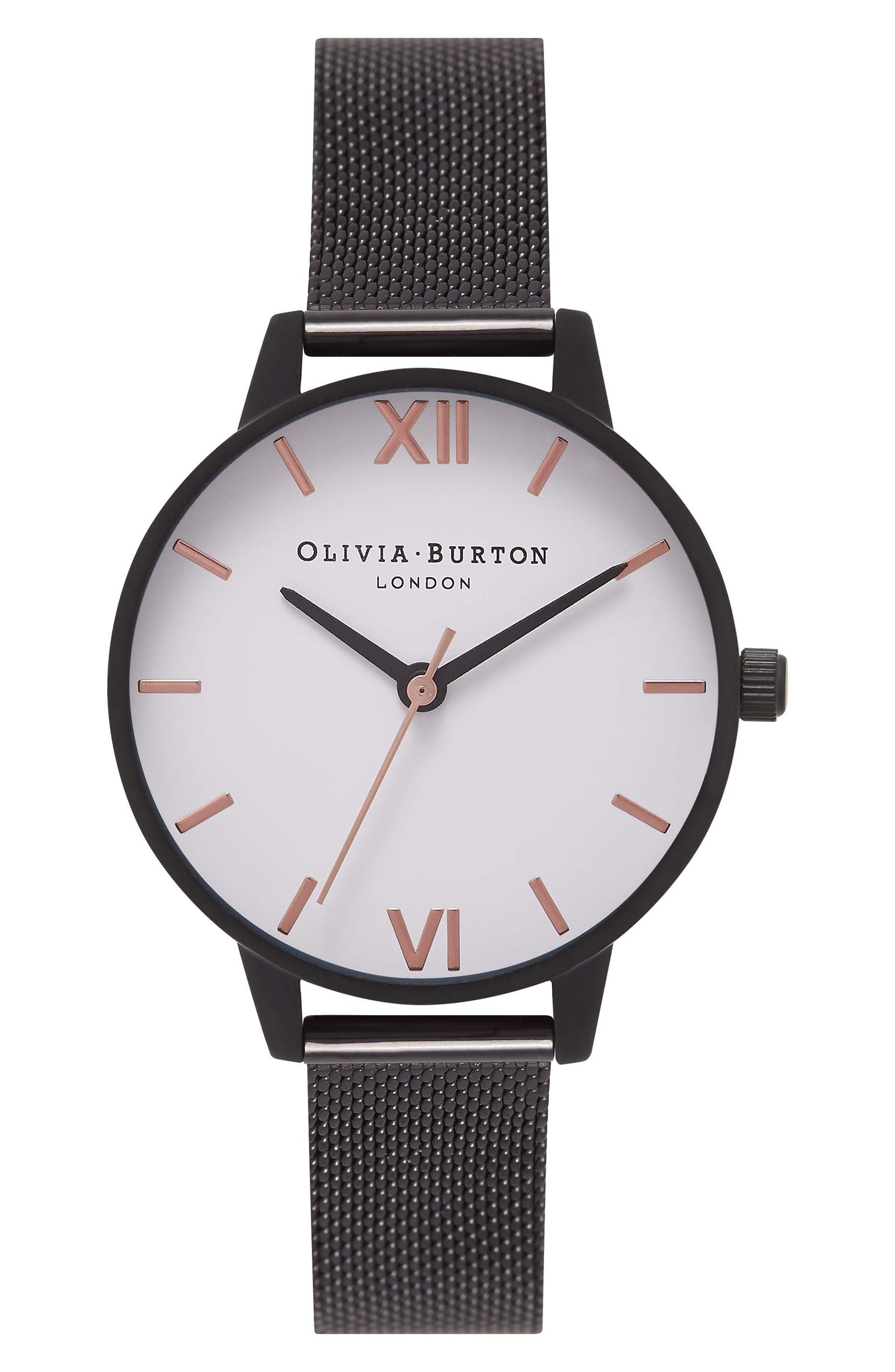 Olivia Burton Mesh Strap Watch, 30mm