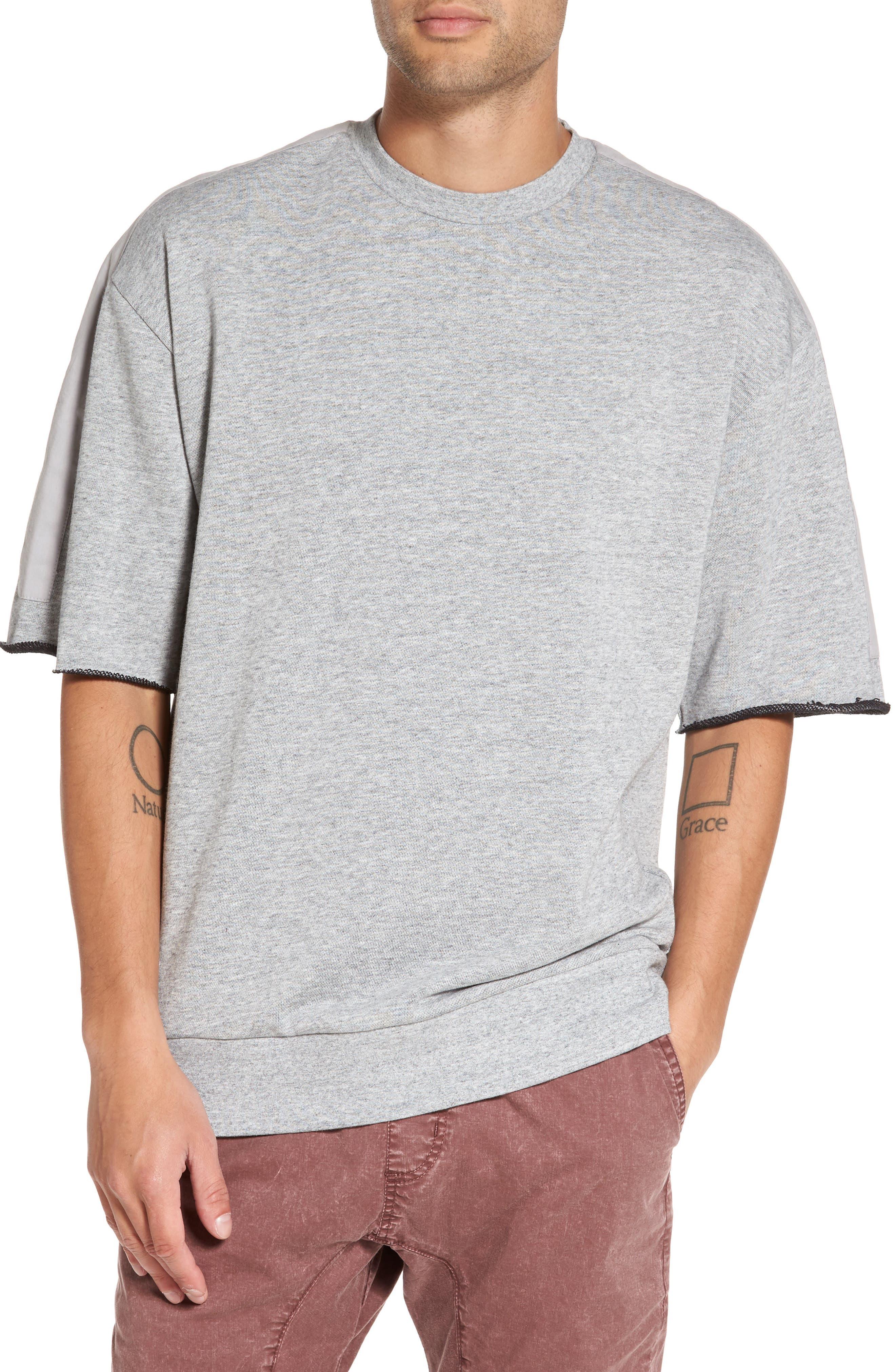 ZANEROBE Rugger Oversize Half Sleeve Sweatshirt