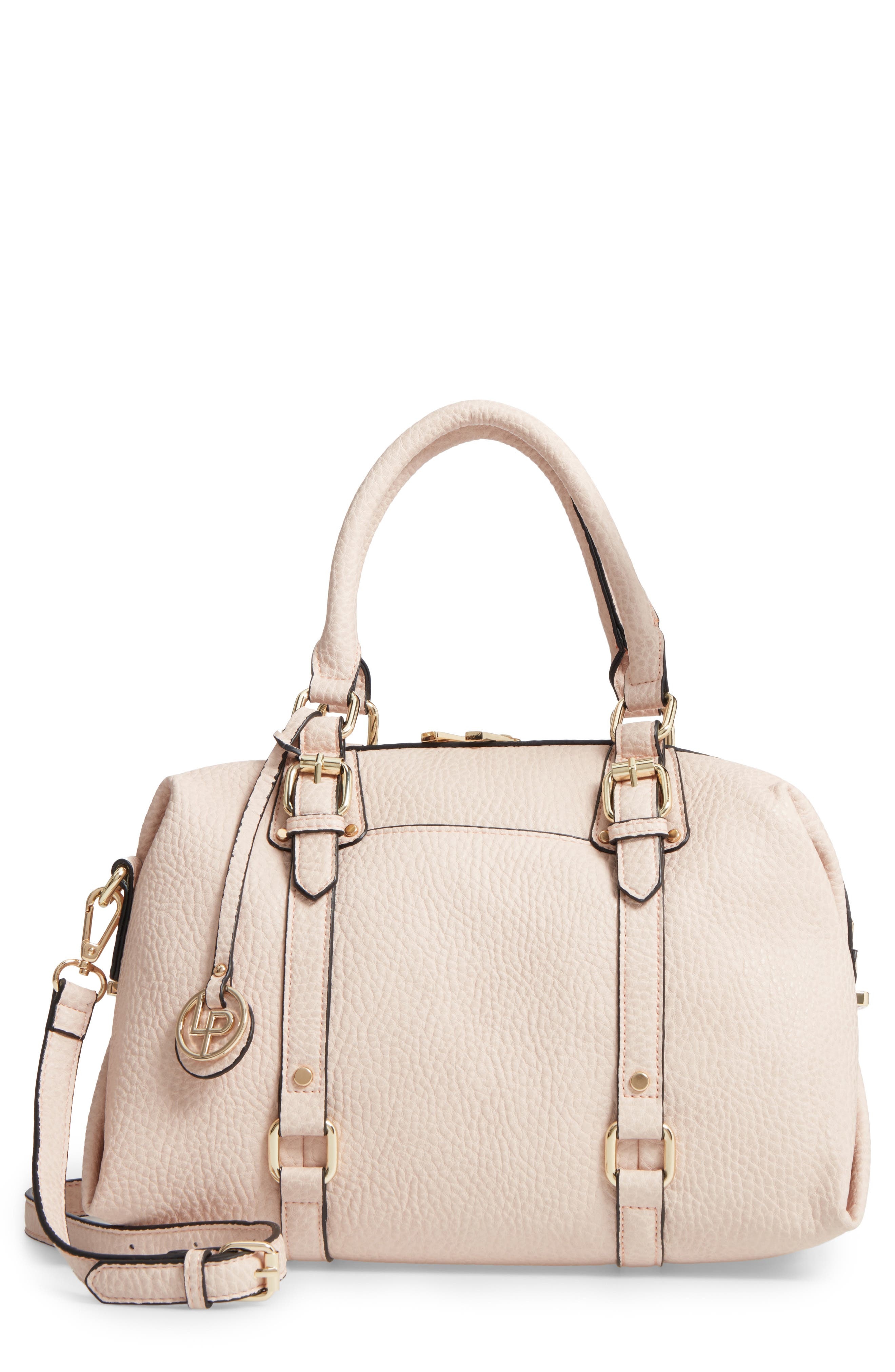 Linea Pelle Faux Leather Satchel