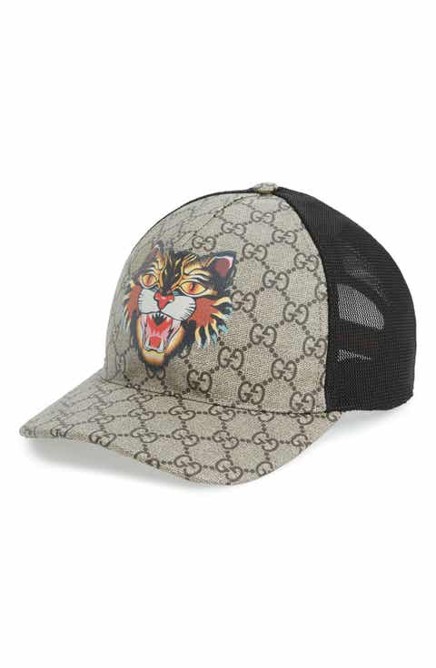 Gucci GG Supreme Angry Cat Trucker Hat