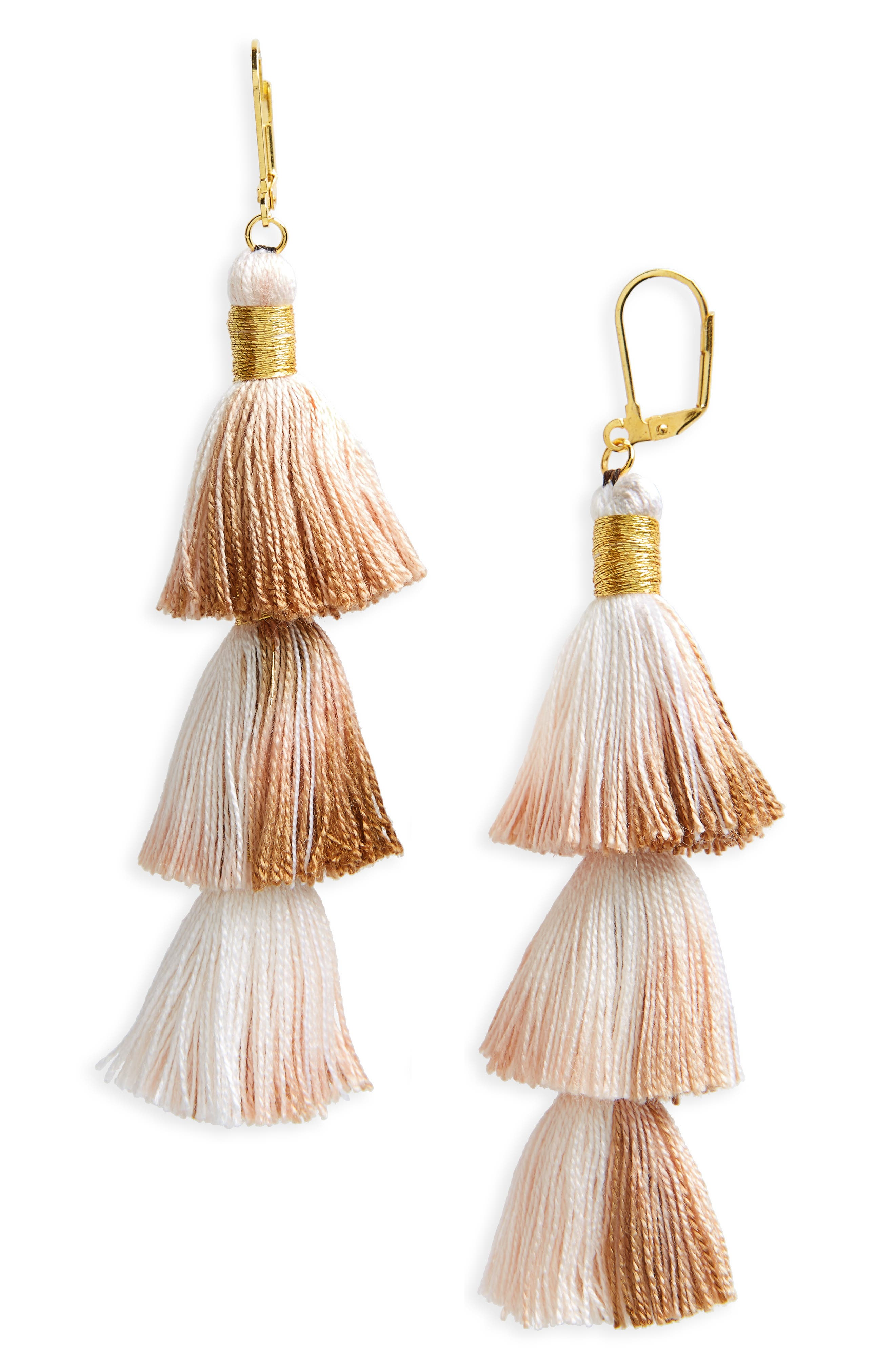 Shashi Tassel Drop Earrings