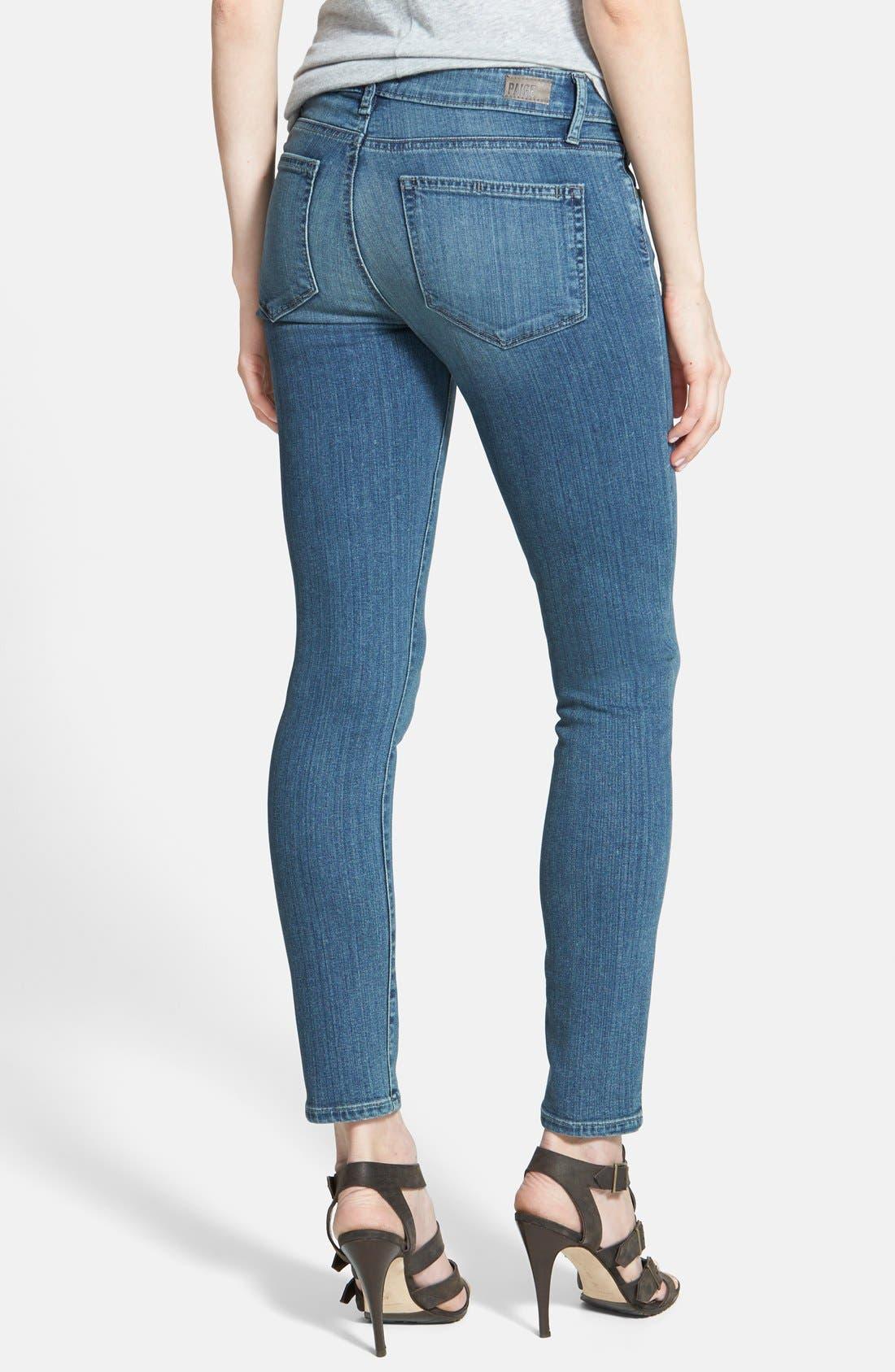 Alternate Image 2  - Paige Denim 'Verdugo' Low Rise Ankle Skinny Jeans (Dazeley)