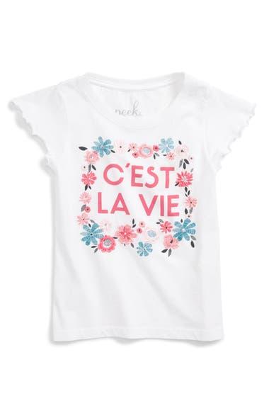 Peek C'est La Vie Tee (Toddler Girls, Little Girls & Big Girls)