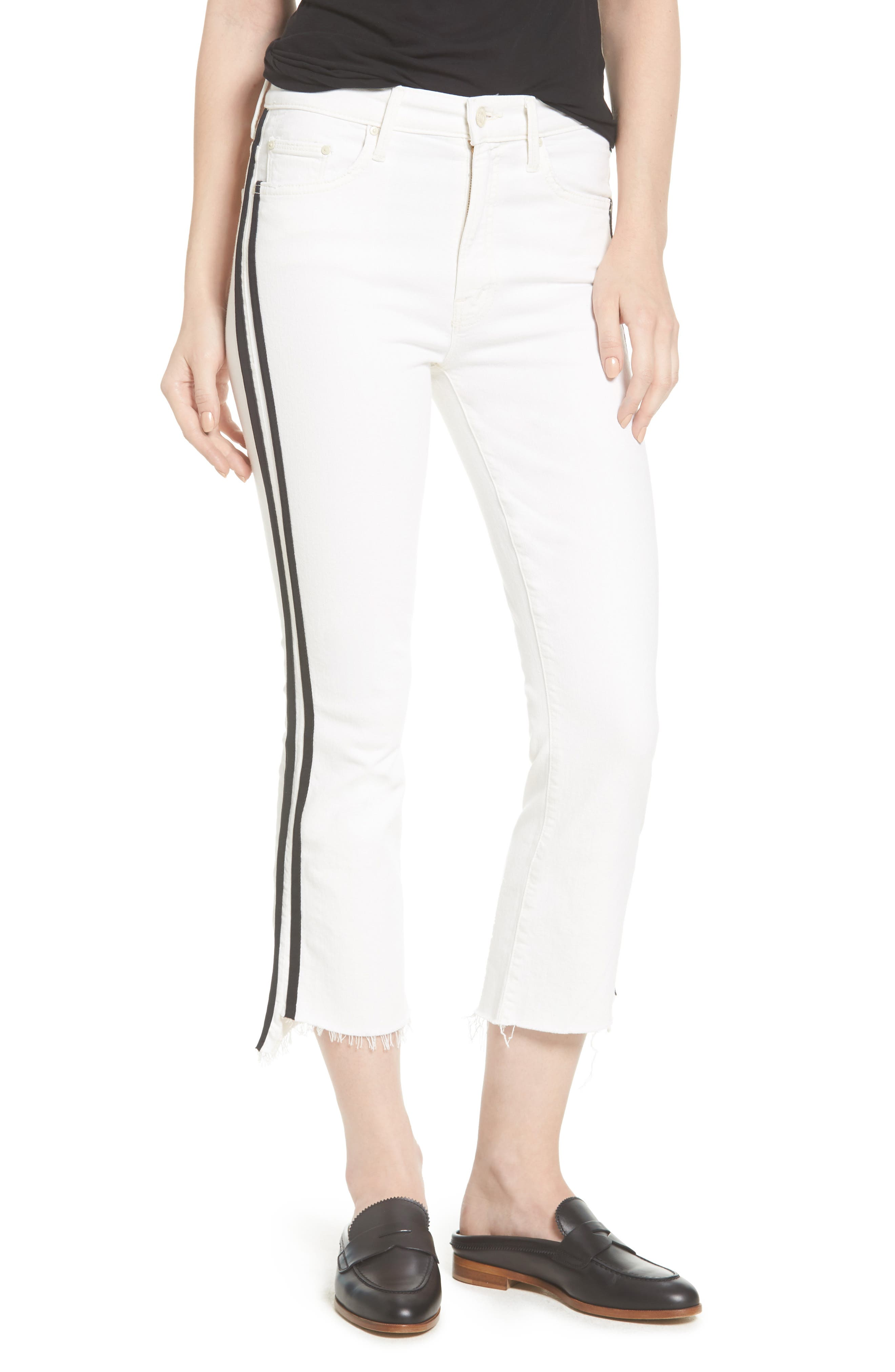 MOTHER The Insider Step Hem Crop Jeans (Whipping the Racer)