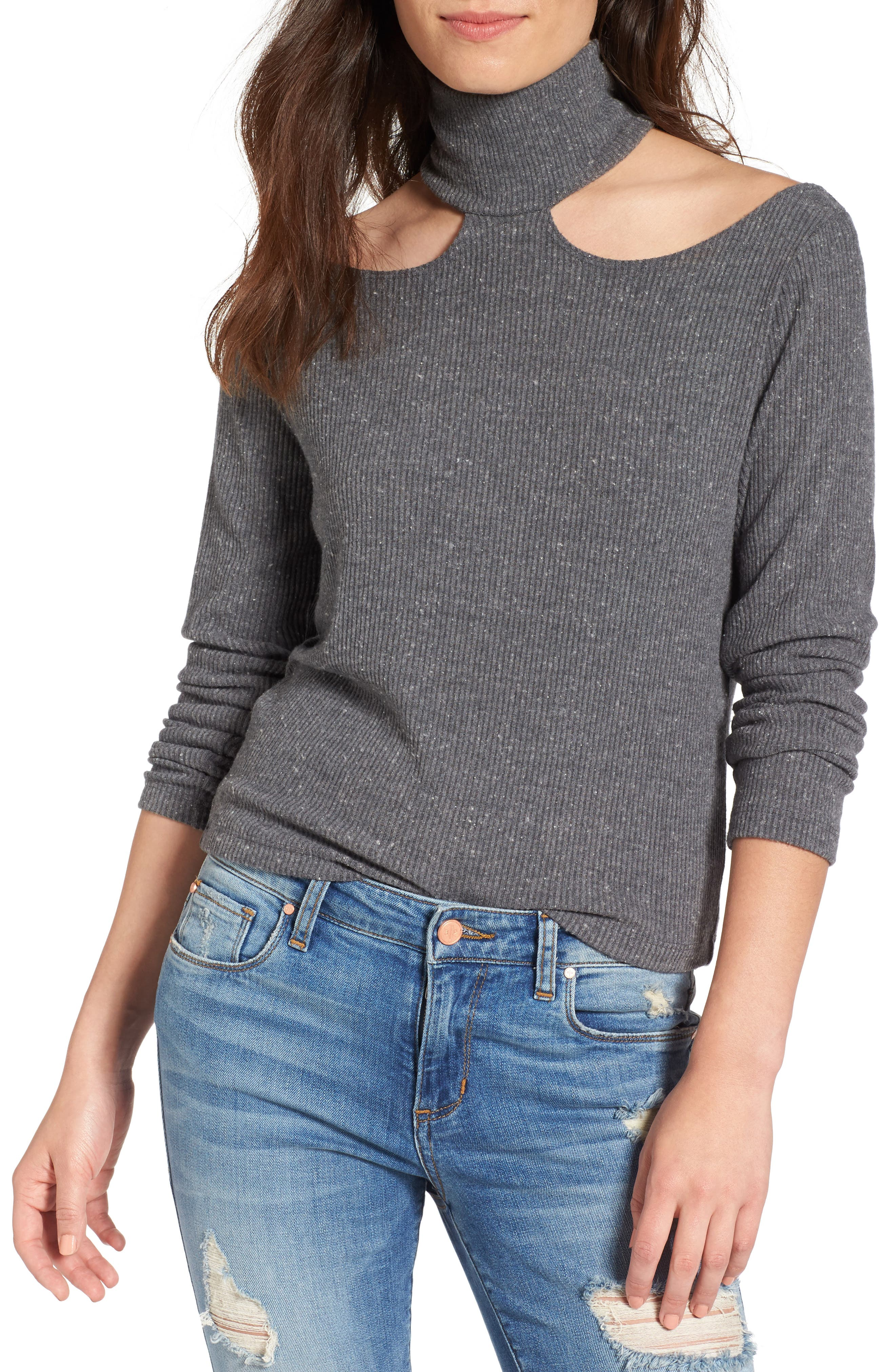 LNA Franklin Cutout Sweater