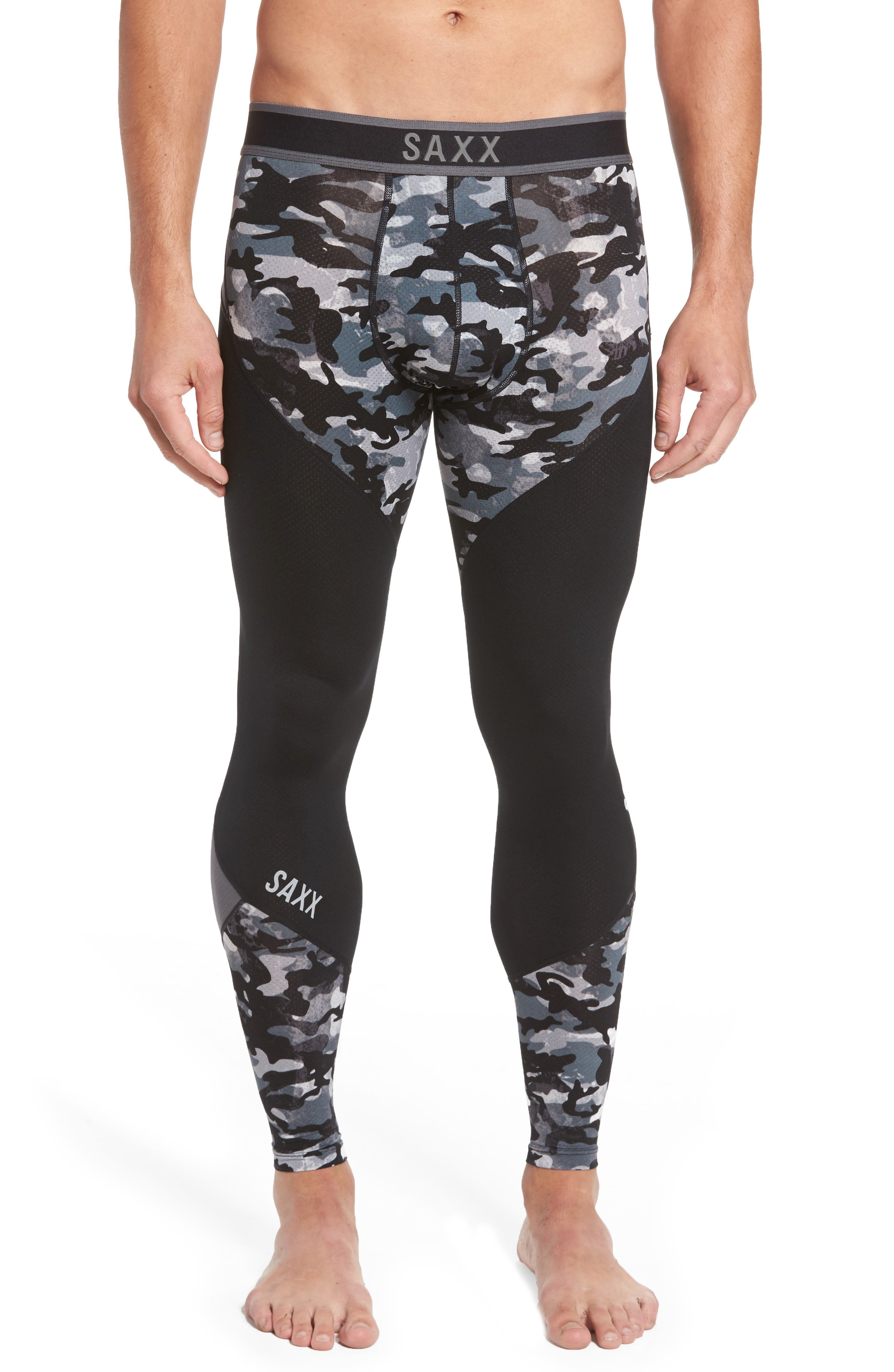 SAXX Kinetic Camo Colorblock Athletic Tights