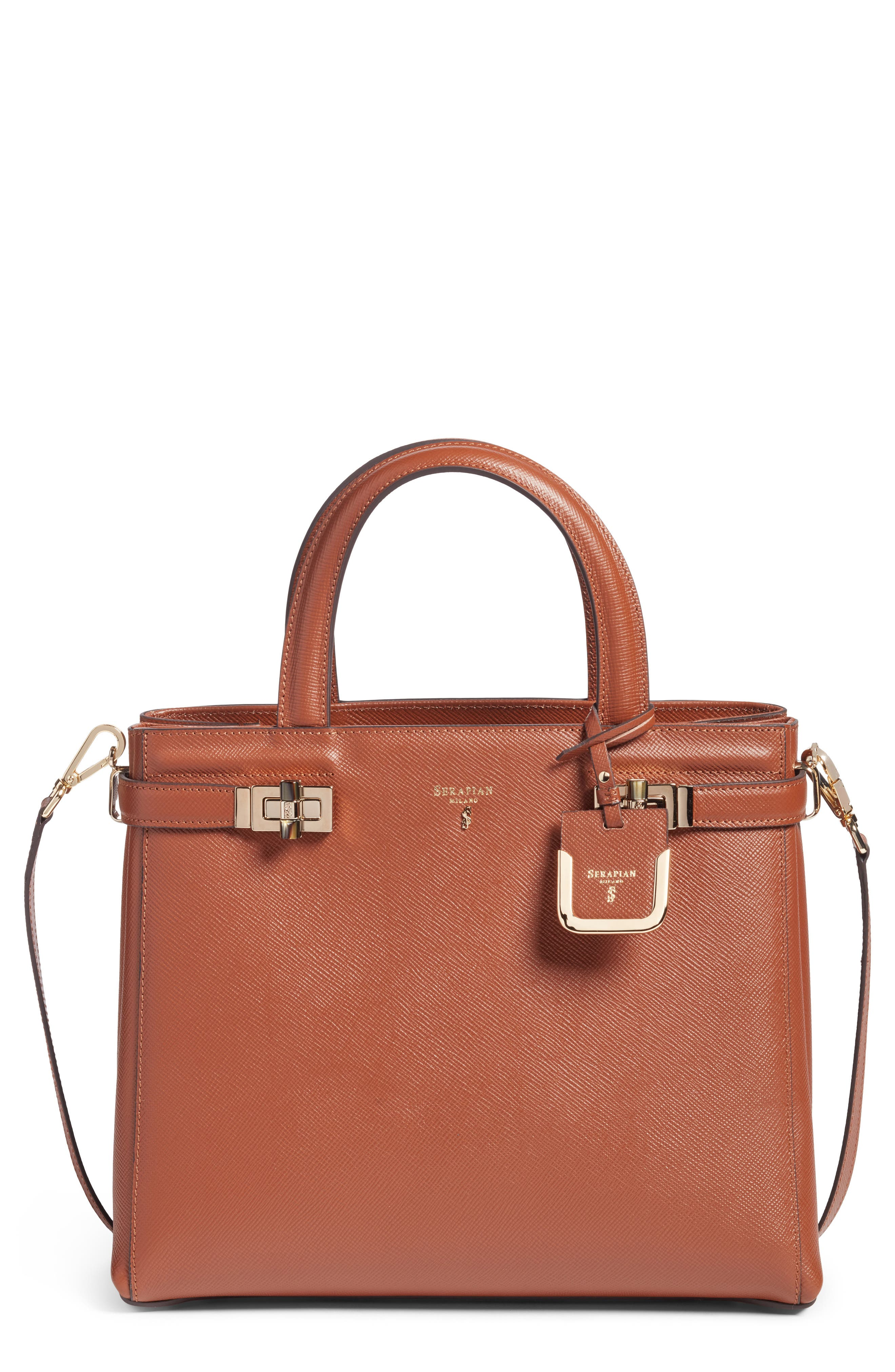 Serapian Milano Small Meline Evolution Leather Bag