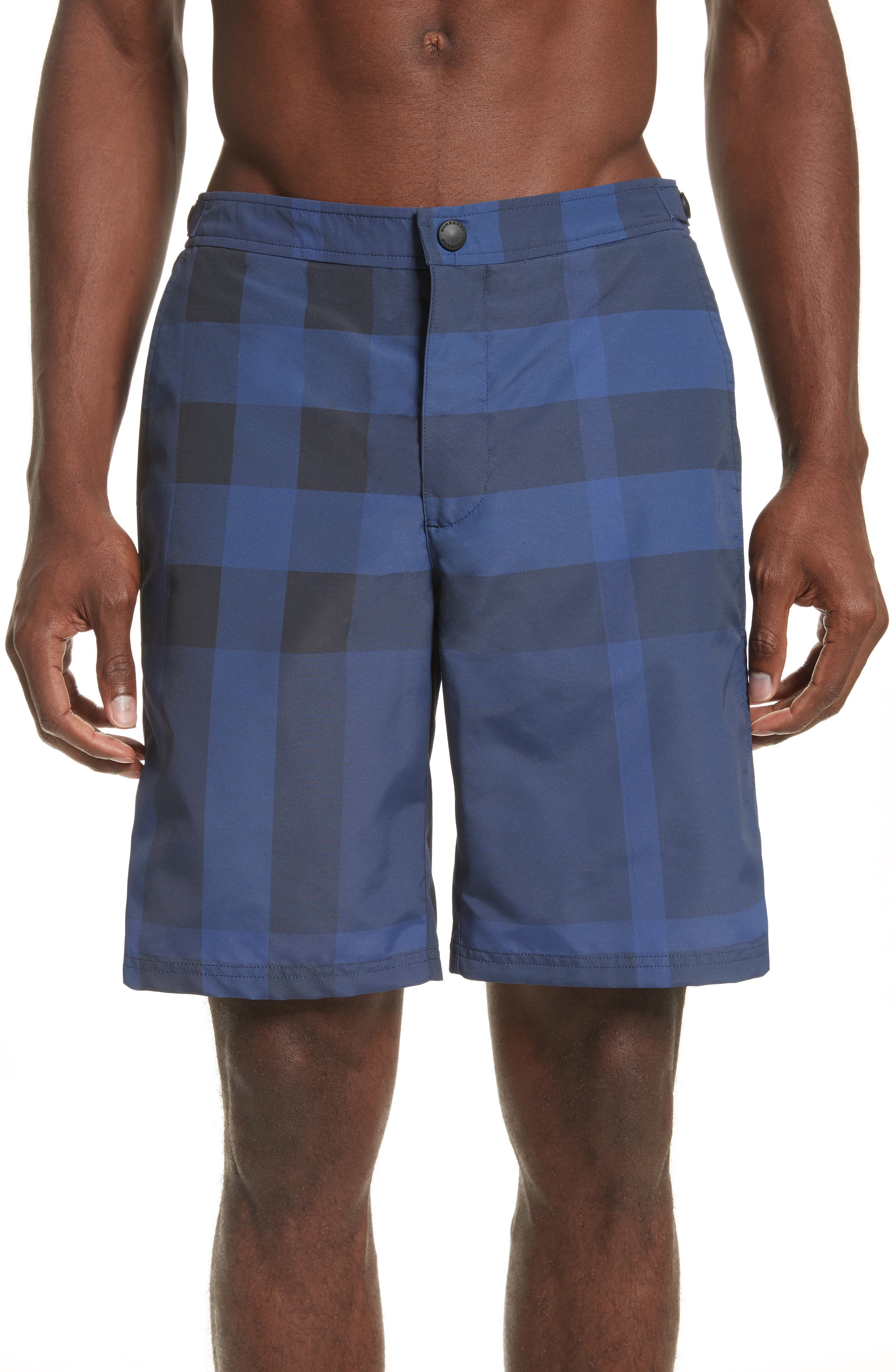 Burberry Goole Check Swim Trunks