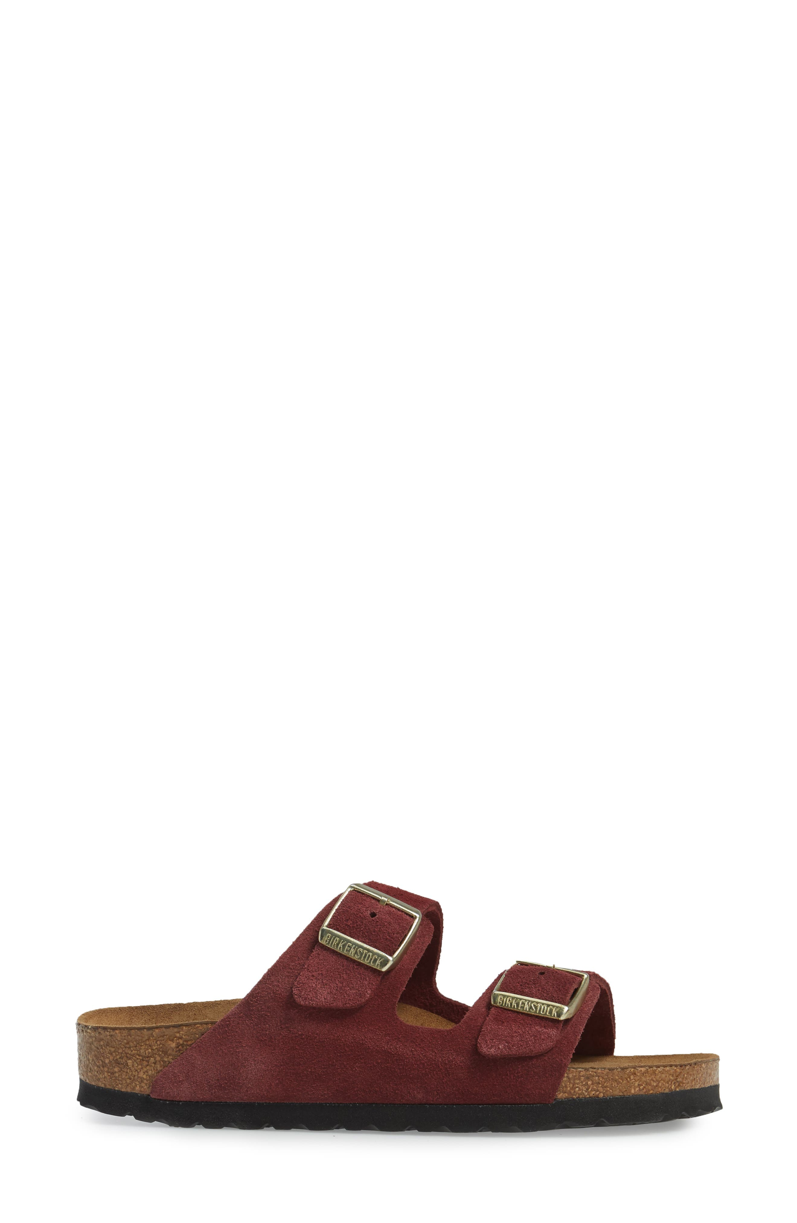 Alternate Image 3  - Birkenstock 'Arizona' Soft Footbed Suede Sandal (Women)