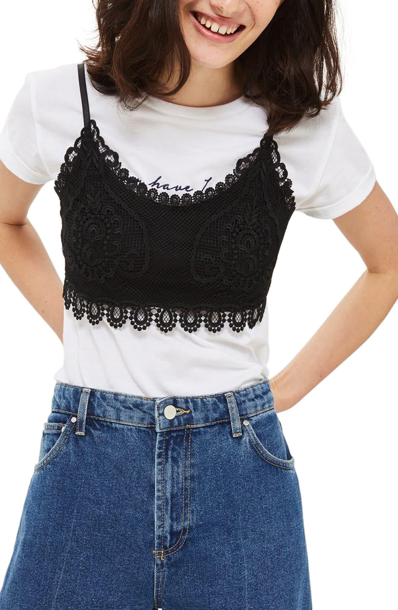 Topshop Crochet Bralette (Petite)