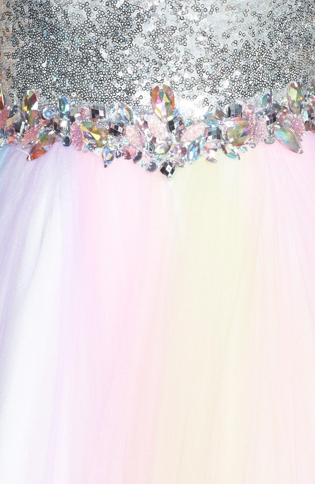 Alternate Image 3  - Mac Duggal Rainbow Gown