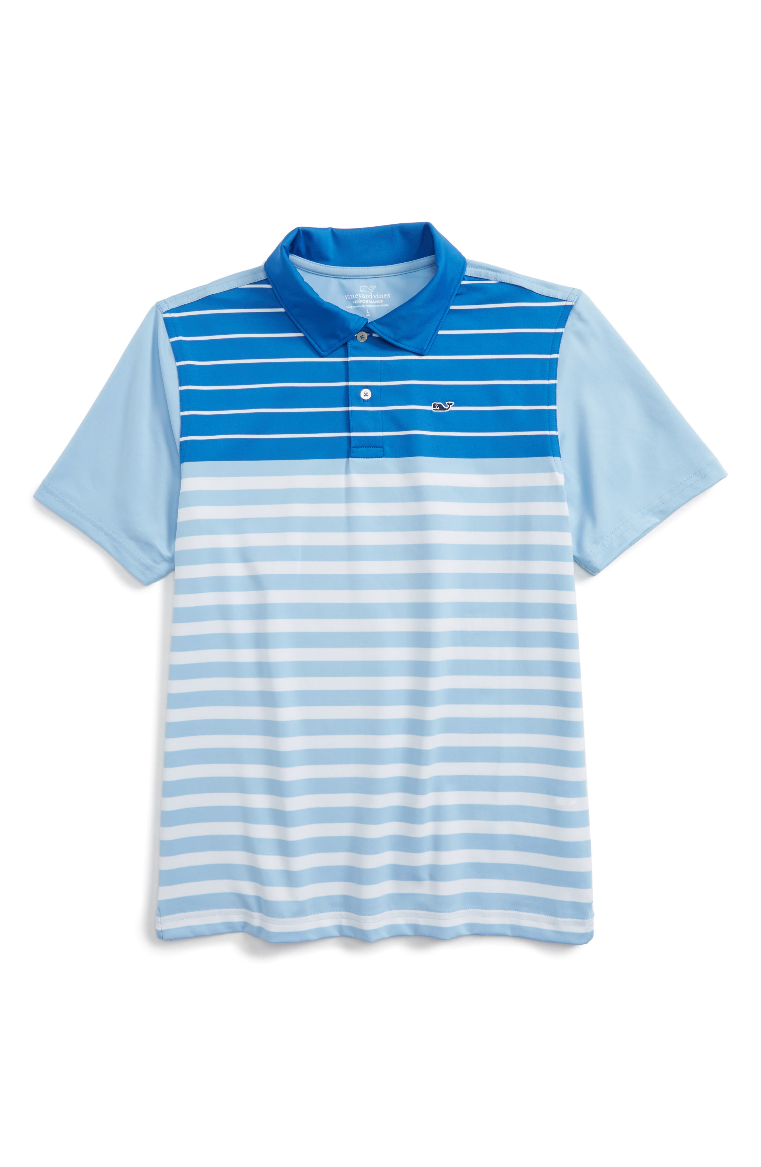 Vineyard Vines Engineered Stripe Performance Polo (Big Boys)