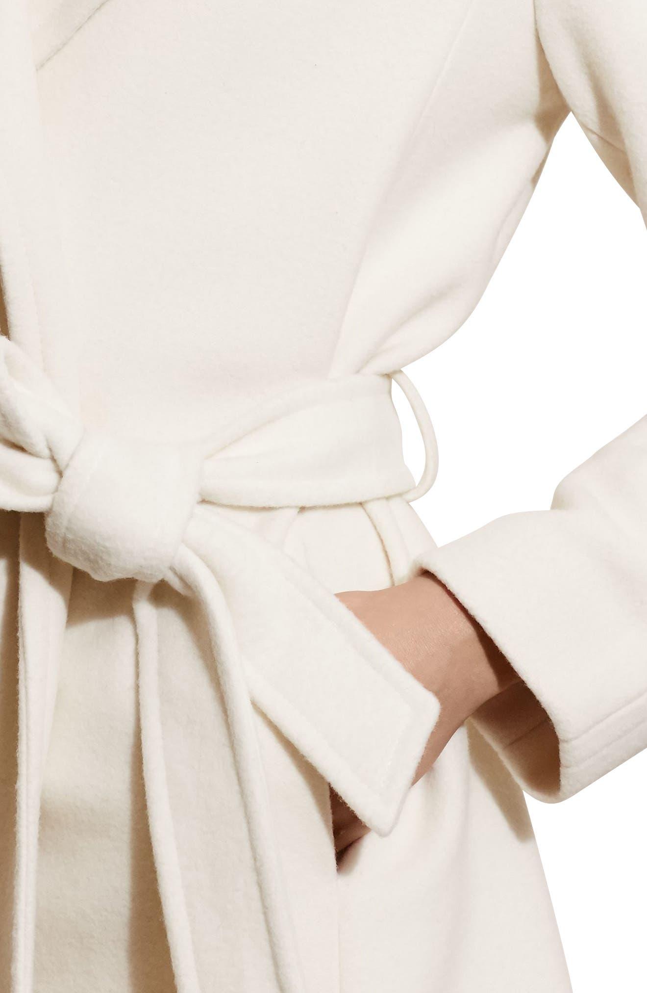 Alternate Image 4  - Lauren Ralph Lauren Wool Blend Wrap Coat (Regular & Petite) (Online Only)