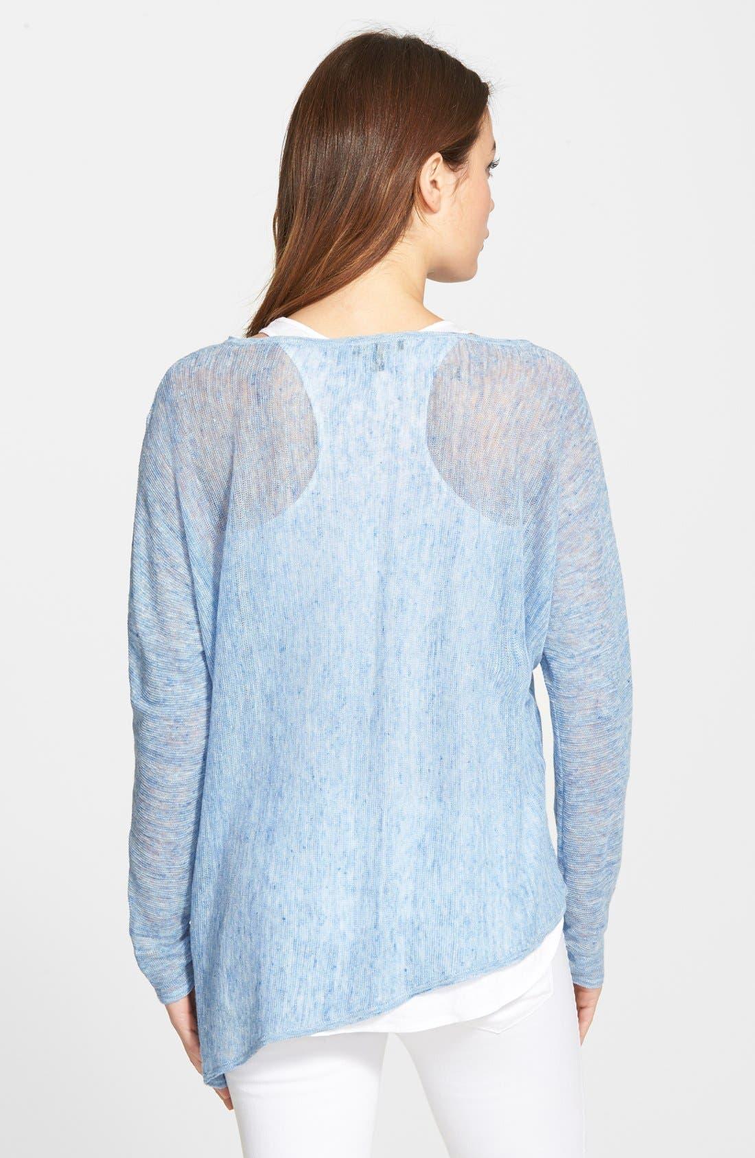 Alternate Image 2  - Eileen Fisher Linen Asymmetrical Top (Regular & Petite) (Online Only)