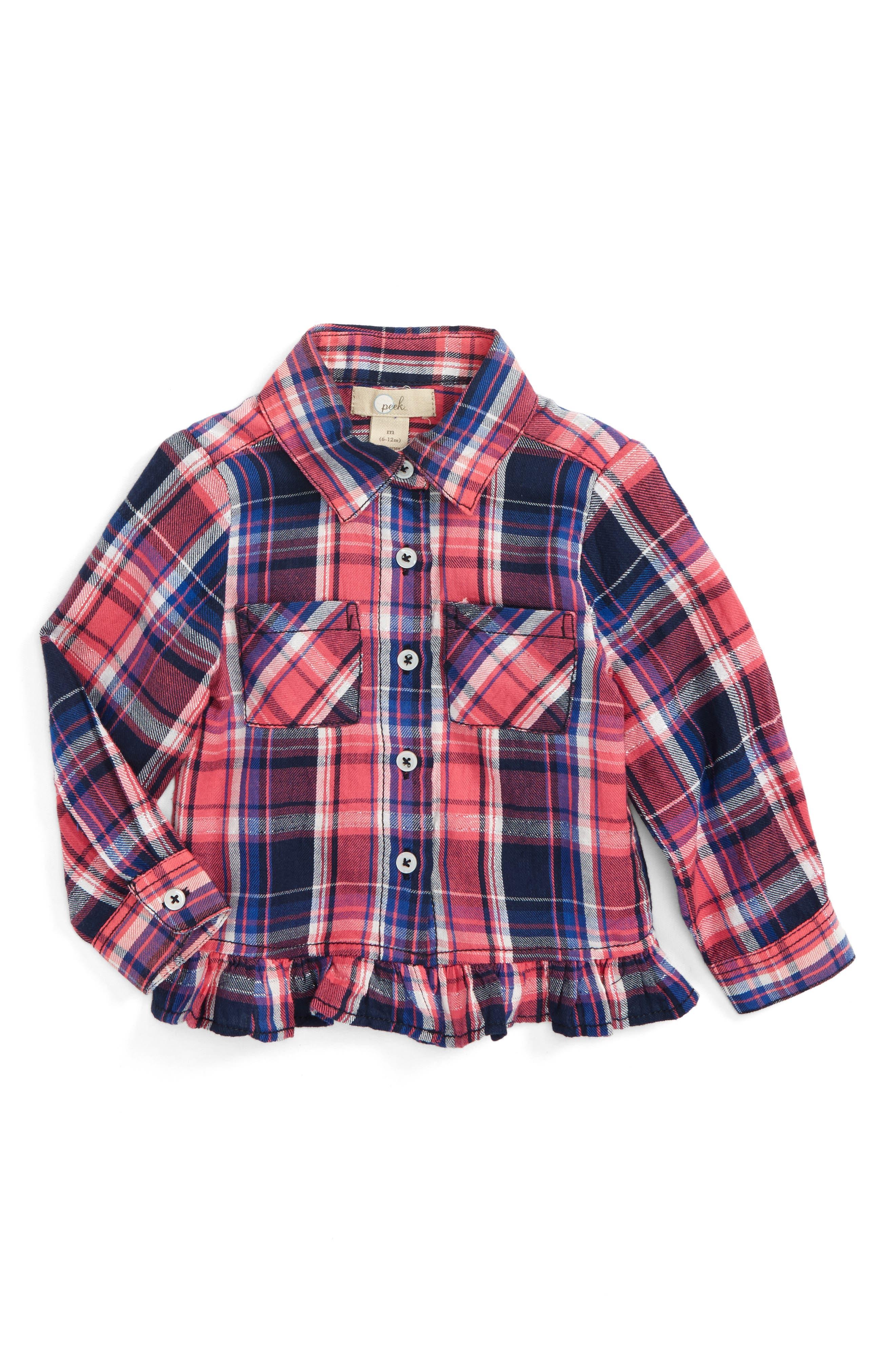 Peek Maggie Plaid Shirt (Baby Girls)