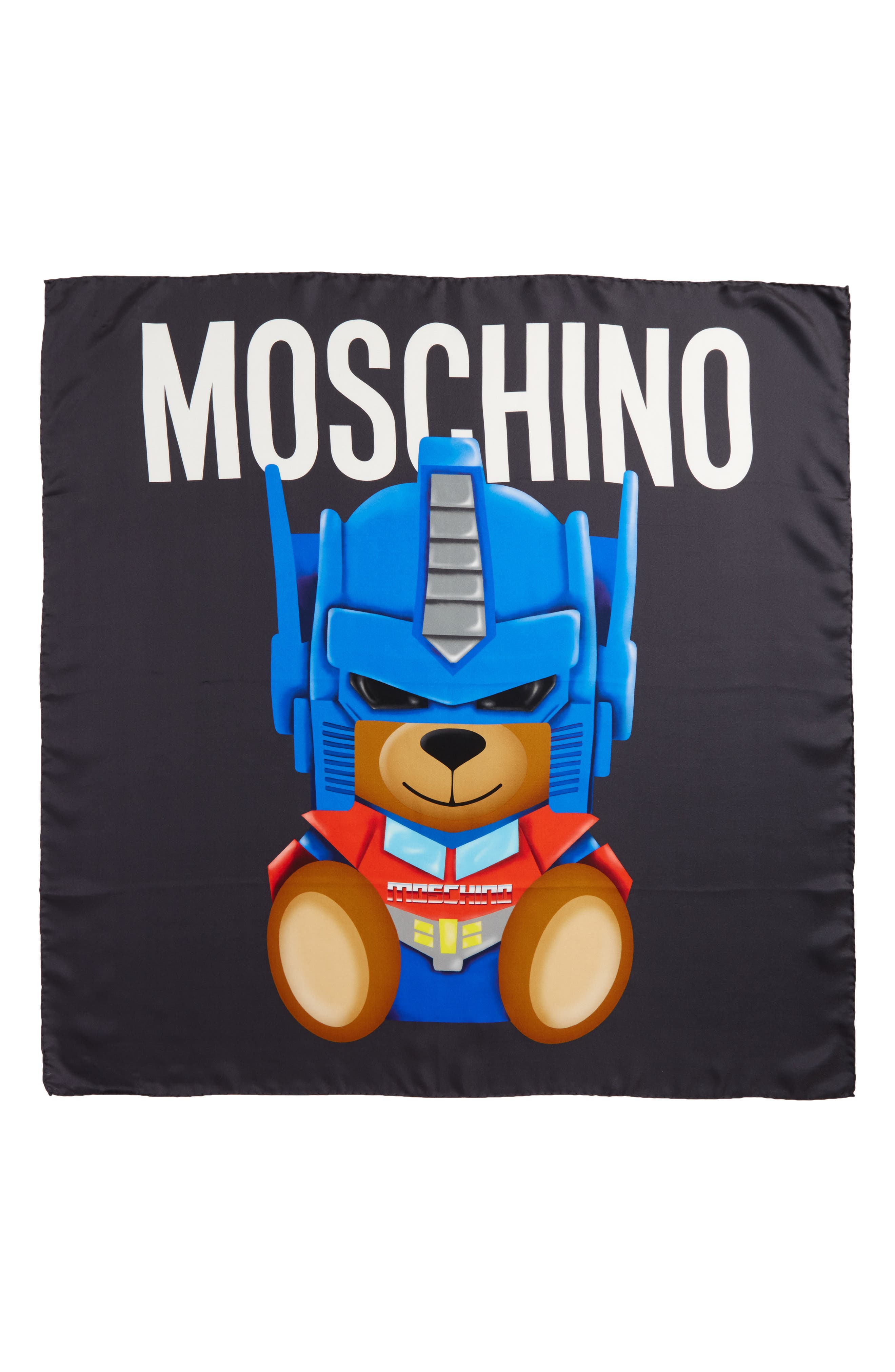 Moschino Transformers® Print Silk Scarf